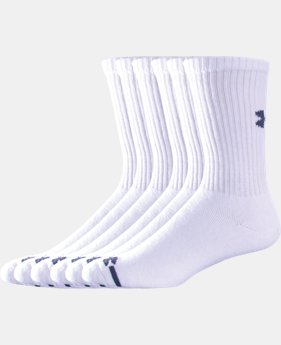 Best Seller Men's Charged Cotton® Crew Socks 6-Pack  2 Colors $19.99