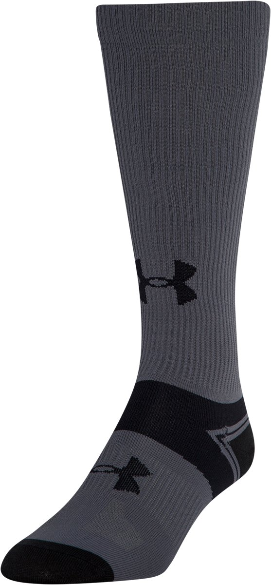 Men's UA Hockey Elite Liner Socks, Black , zoomed image