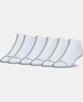 Men's UA Charged Cotton® Lo Cut Socks - 6 Pack  1 Color $19.99