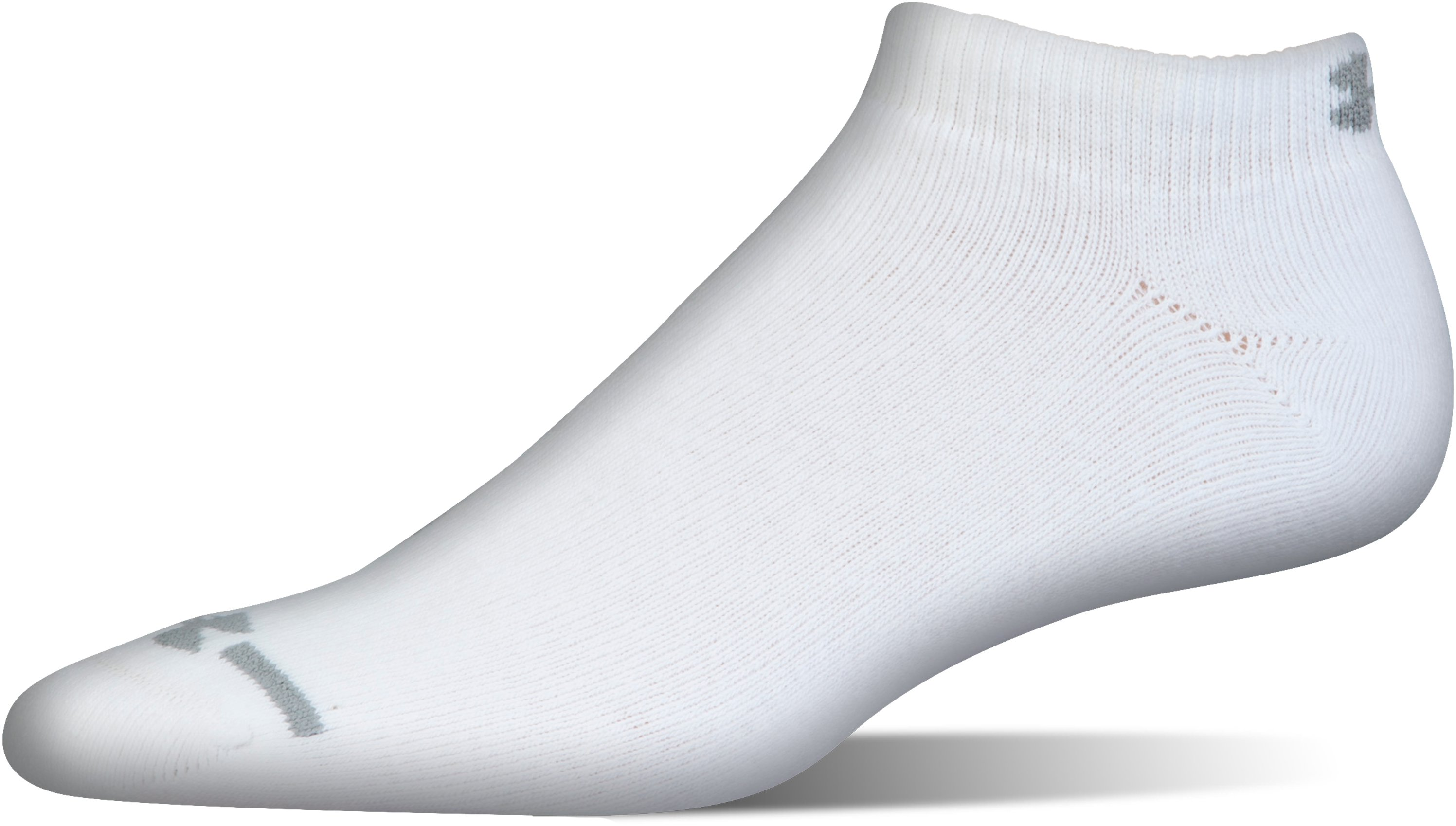 Men's UA Charged Cotton® Lo Cut Socks - 6 Pack, White, undefined