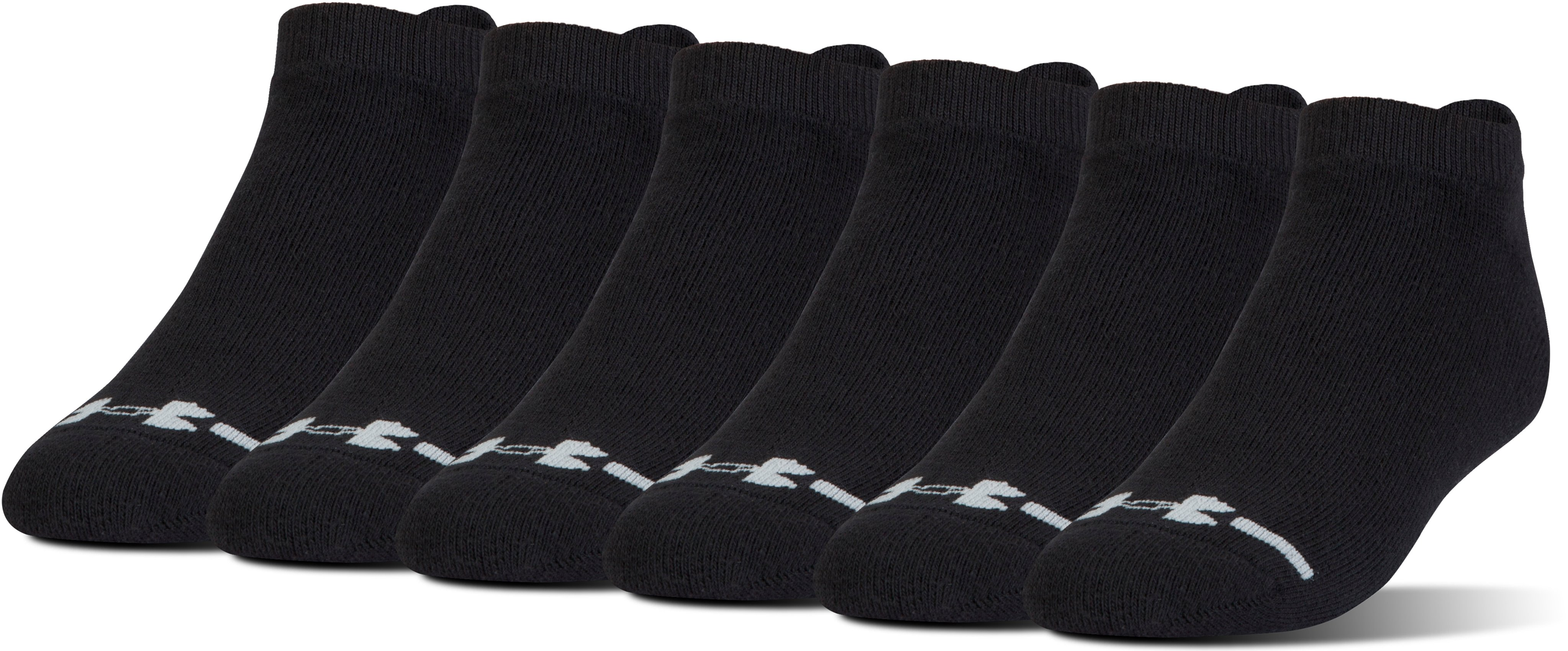 Men's Charged Cotton® Lo Cut 6-Pack, Black