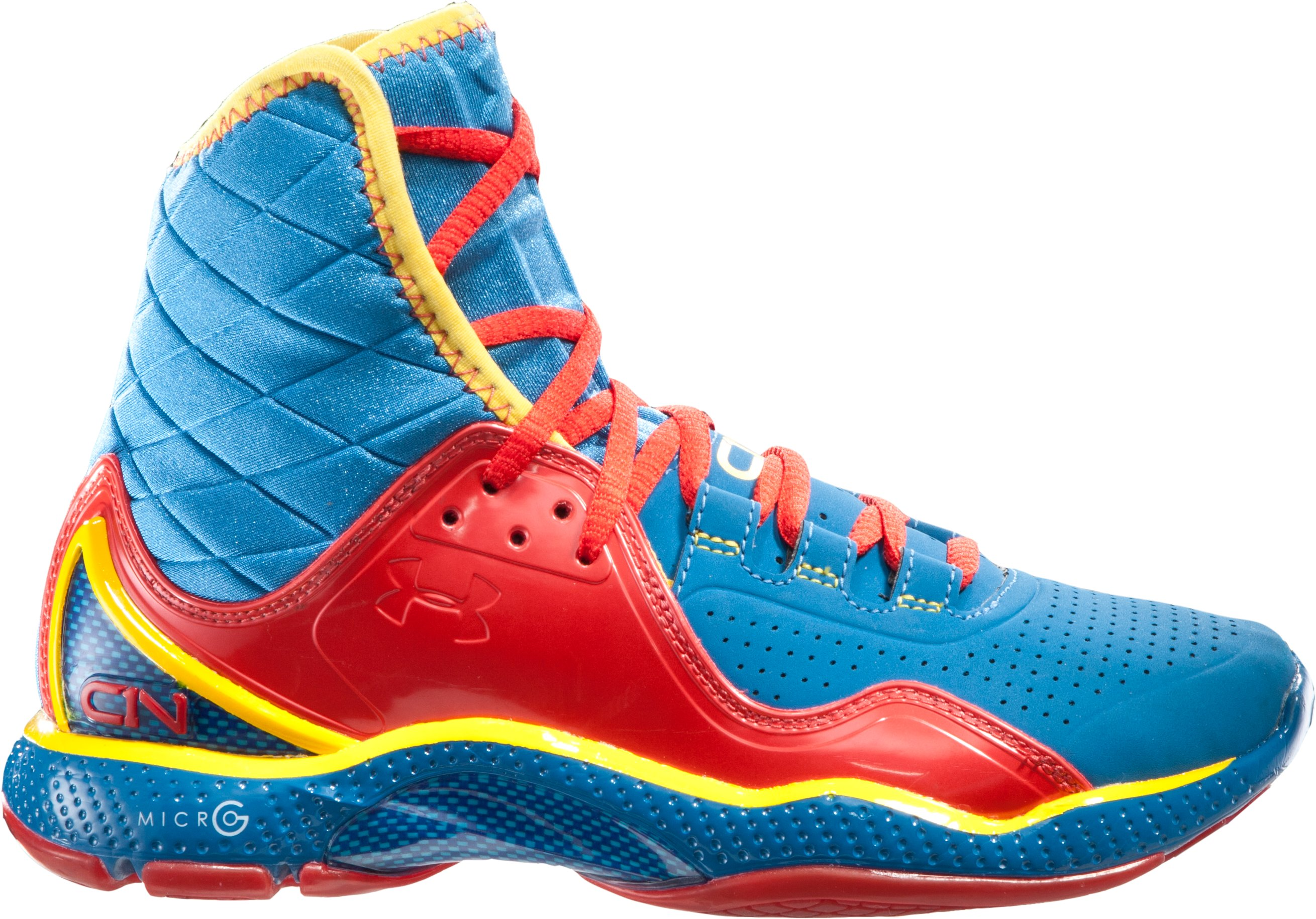 Boys' UA Cam Highlight Grade School Training Shoes, St. Tropez, zoomed image