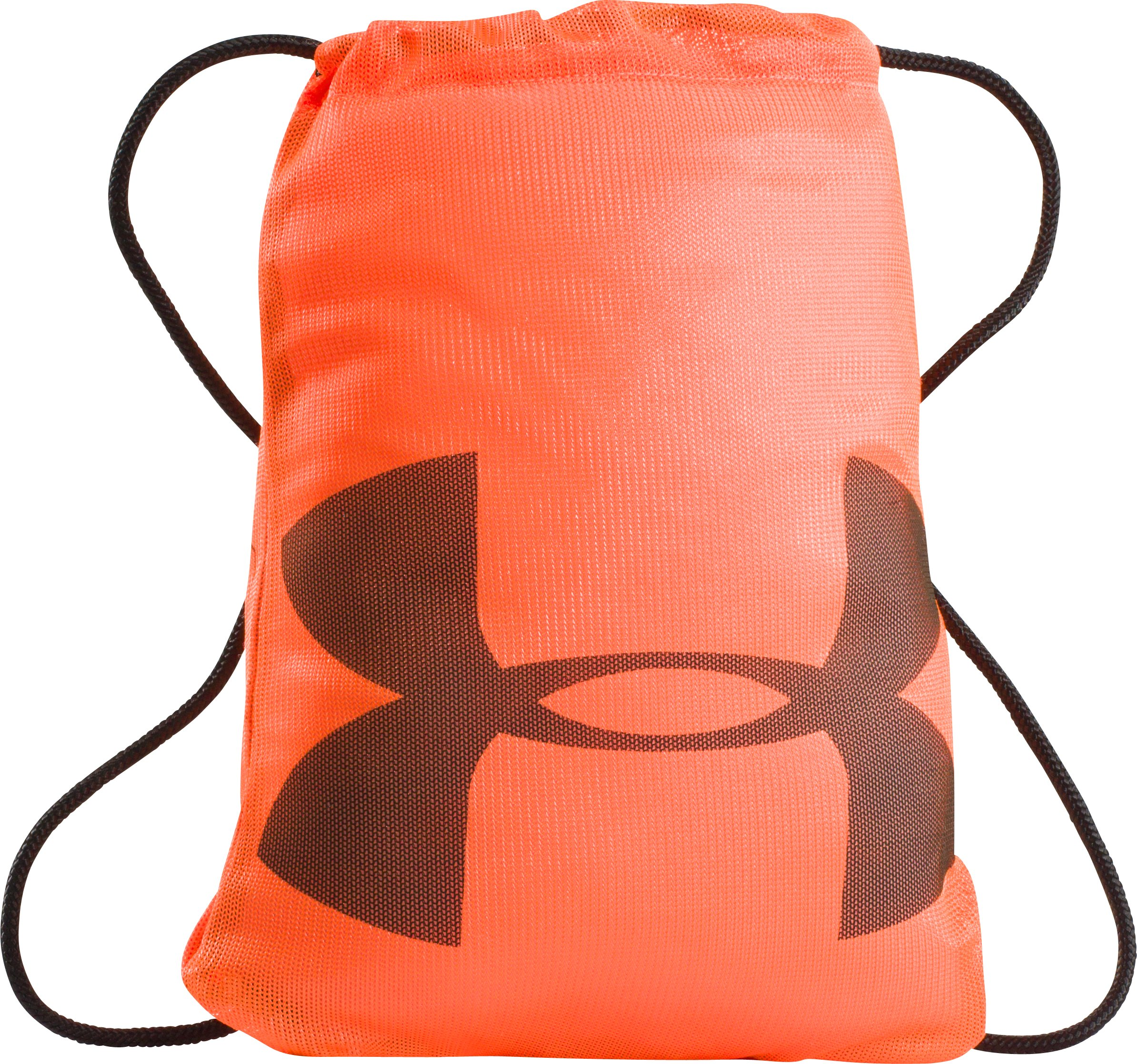 UA Mesh Sackpack, Blaze Orange, zoomed image