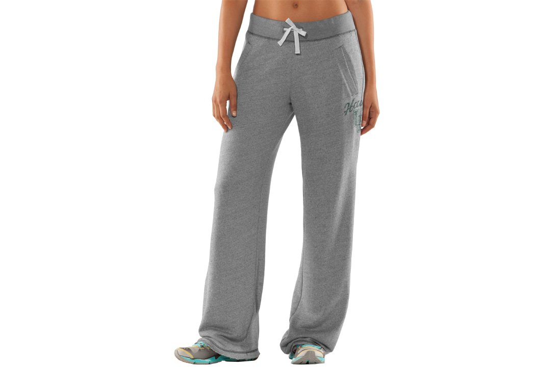 Women's University of Hawai'i Under Armour® Legacy Pants, True Gray Heather, zoomed image