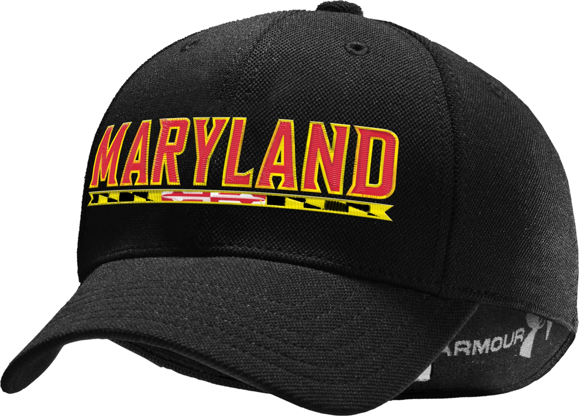Men's WWP Maryland Stretch Fit Cap, Black , zoomed image