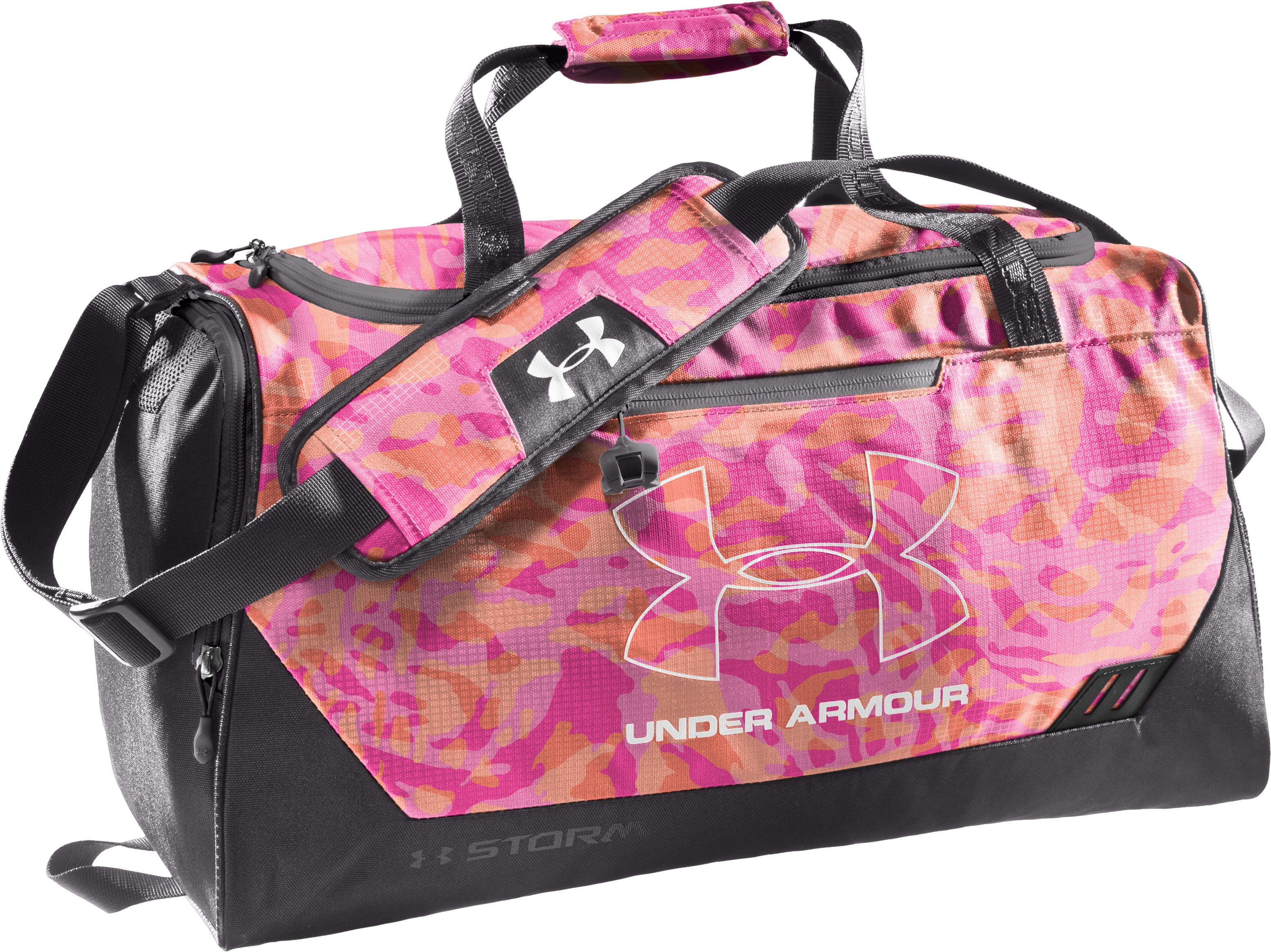 UA Hustle Storm SM Duffle Bag, Charcoal