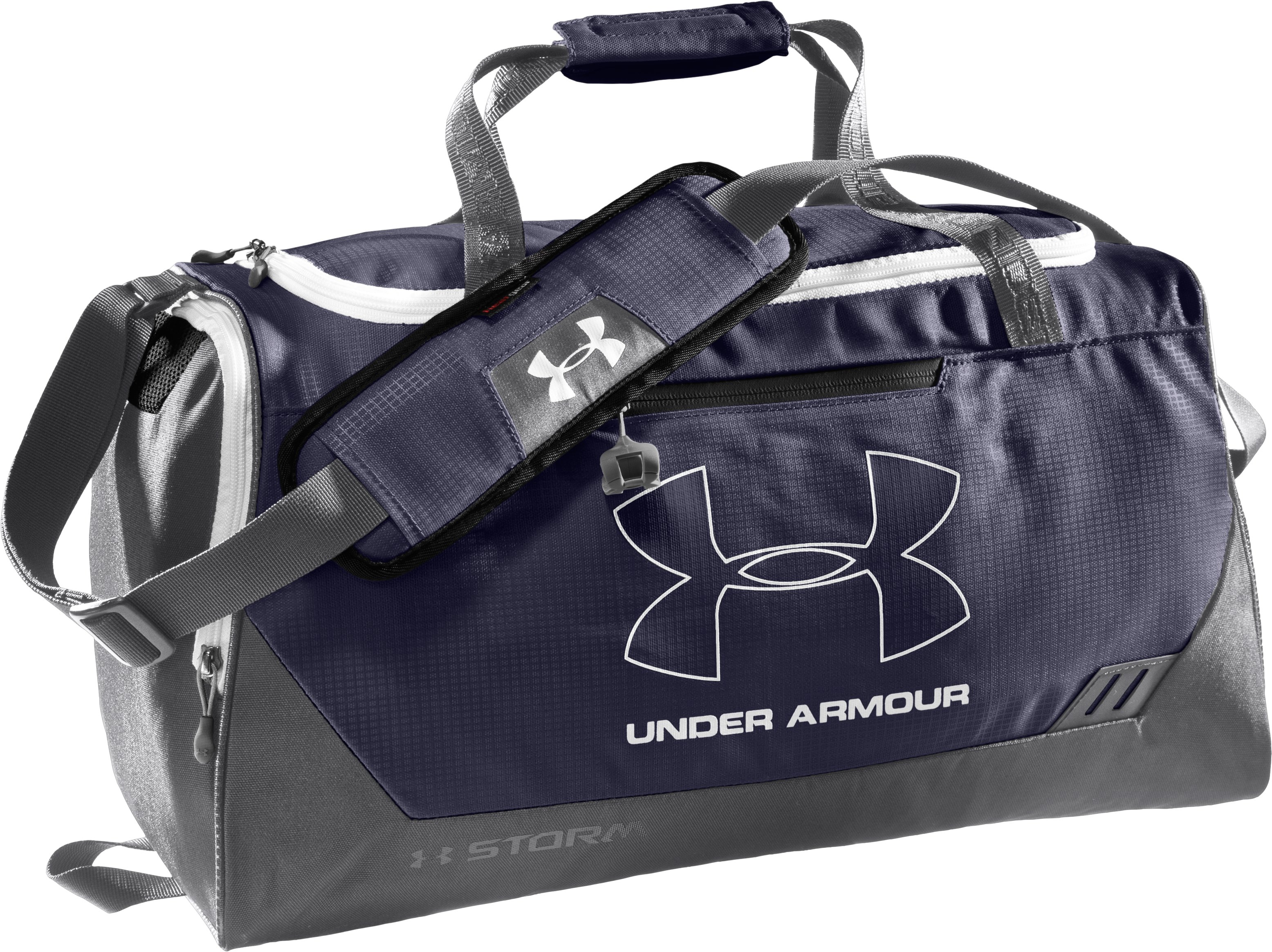 UA Hustle Storm SM Duffle Bag, Midnight Navy