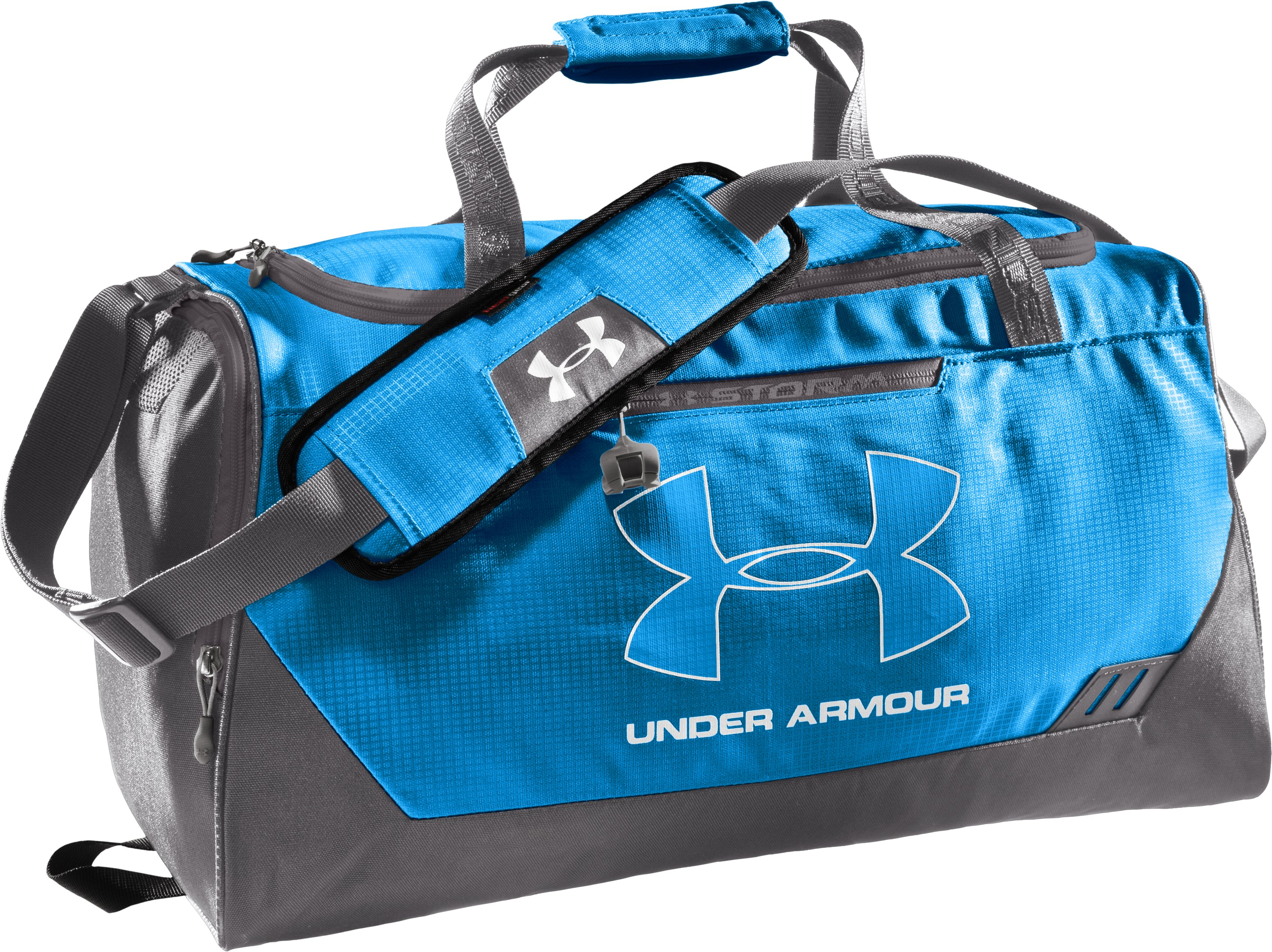 UA Hustle Storm SM Duffle Bag, ELECTRIC BLUE, zoomed image