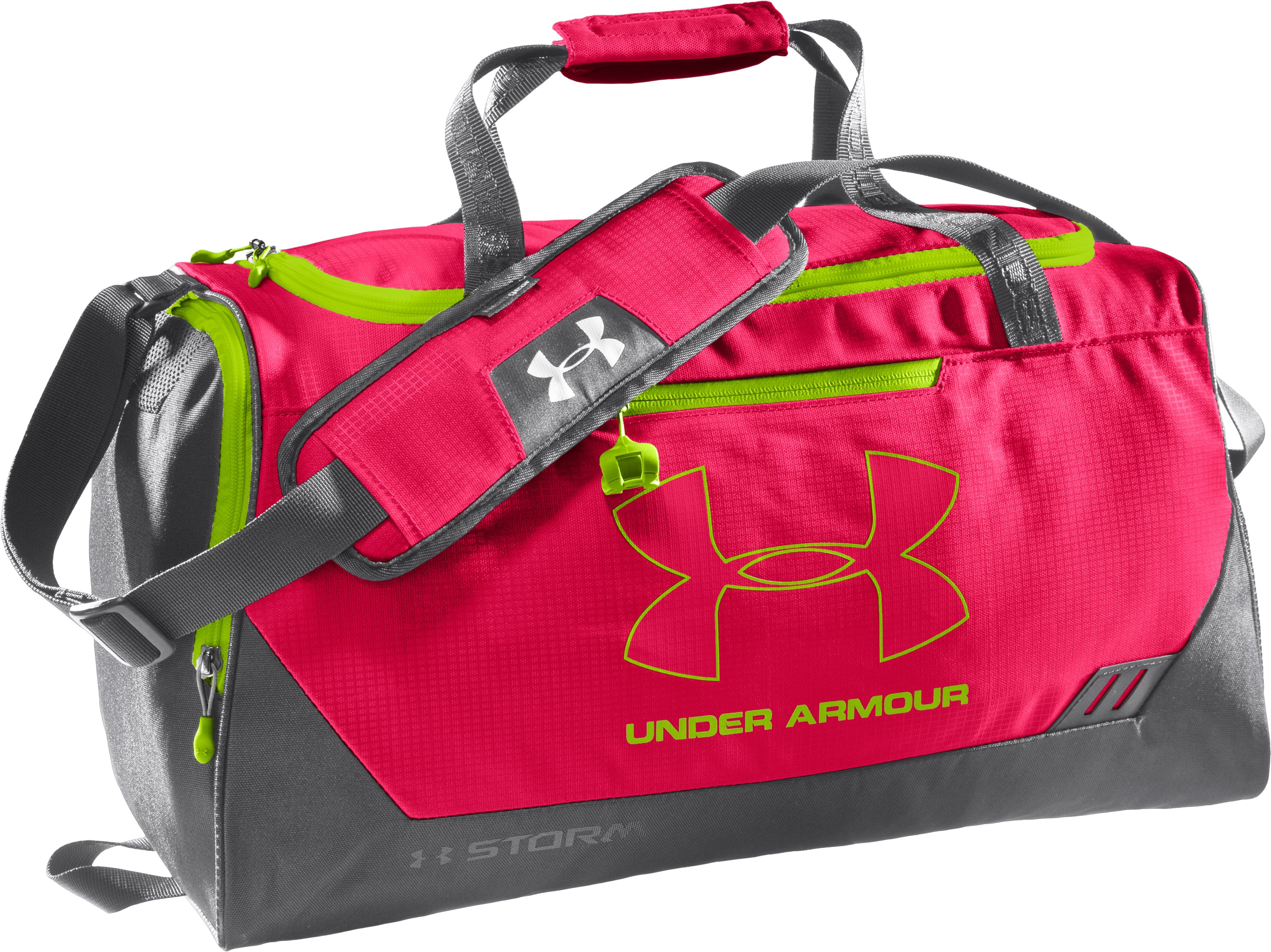 UA Hustle Storm SM Duffle Bag, Neo Pulse