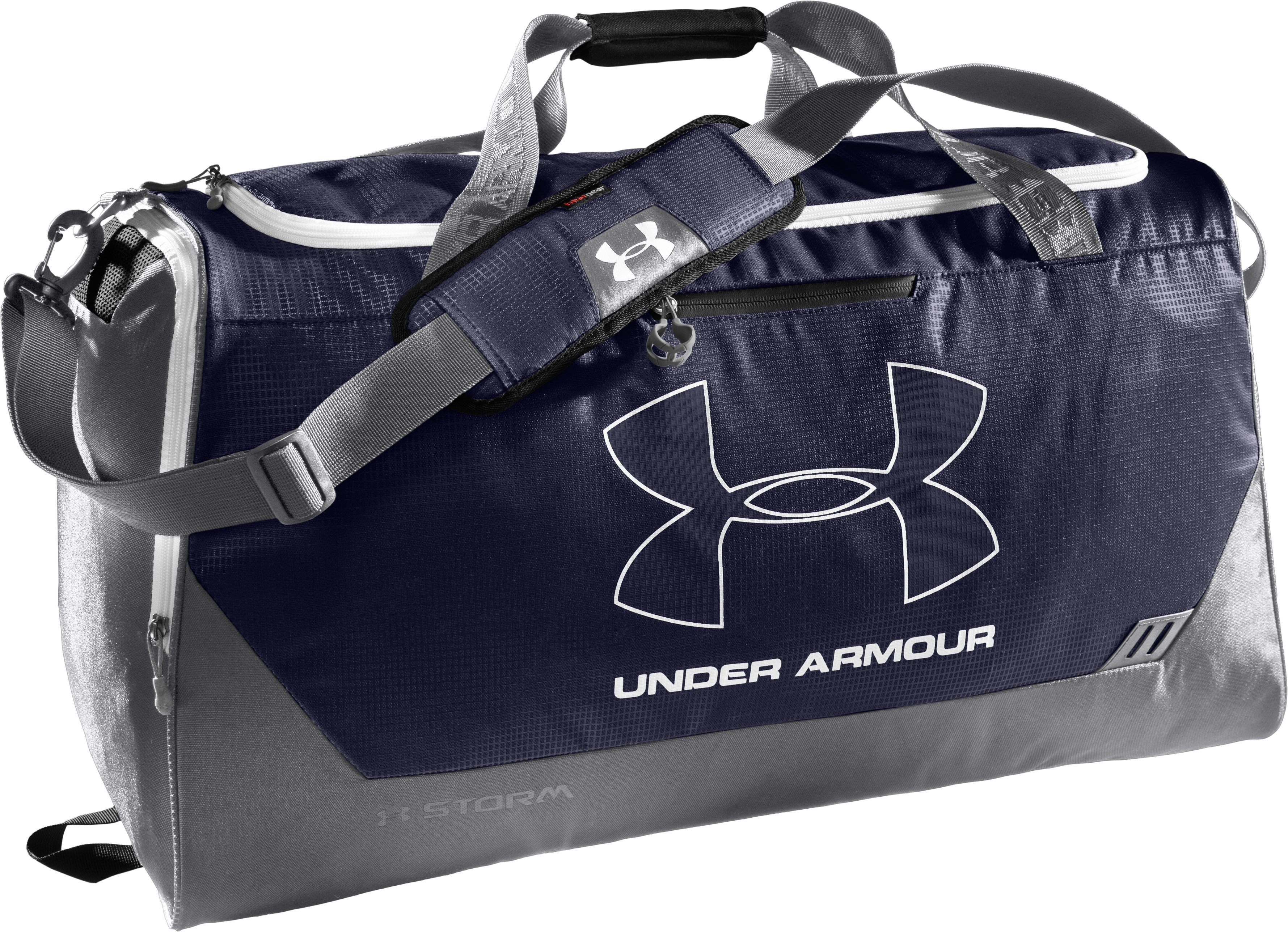 UA Hustle Storm LG Duffle Bag, Midnight Navy, zoomed image