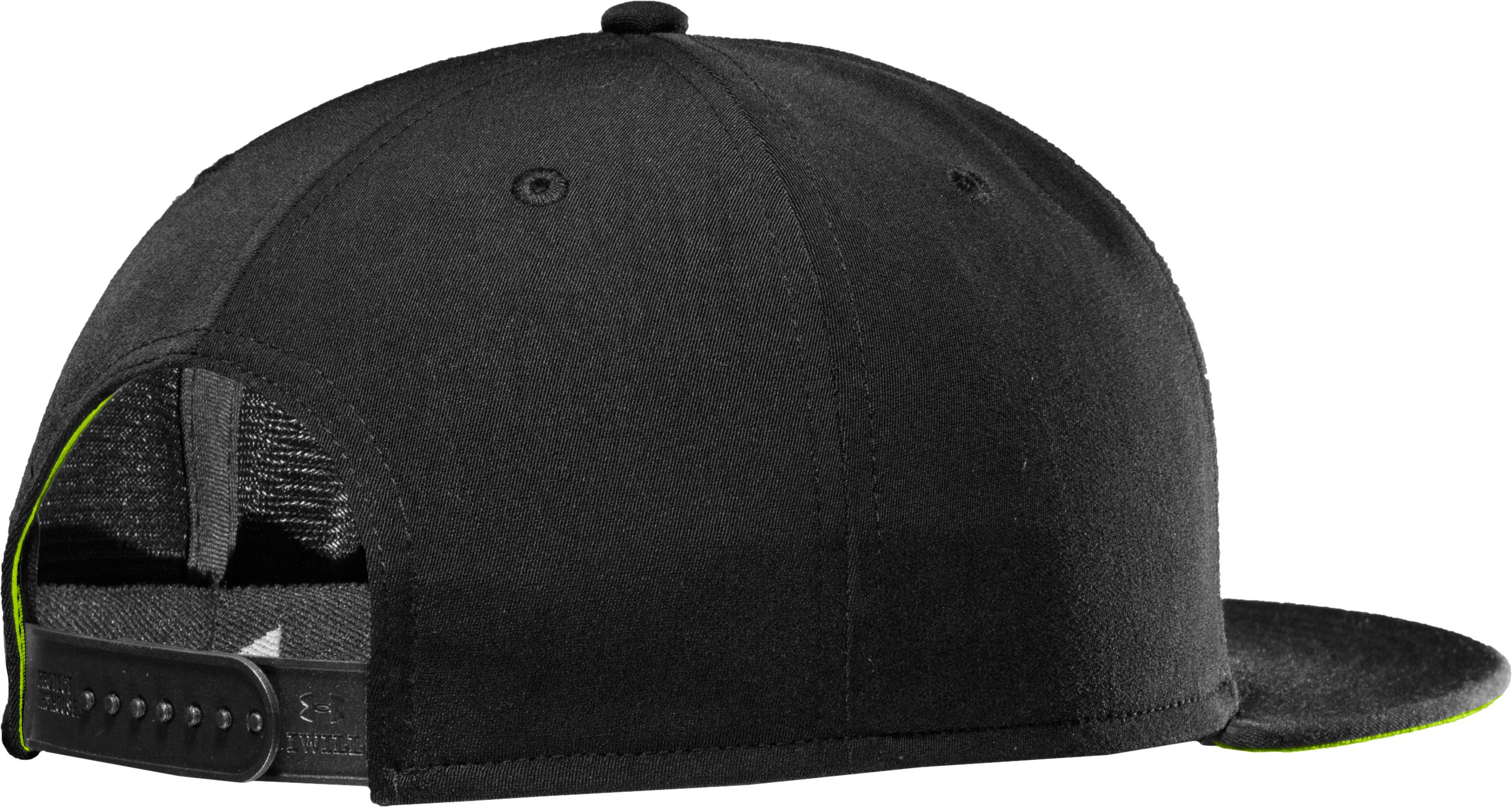 Men's UA Frontside Flat Brim Cap, Black
