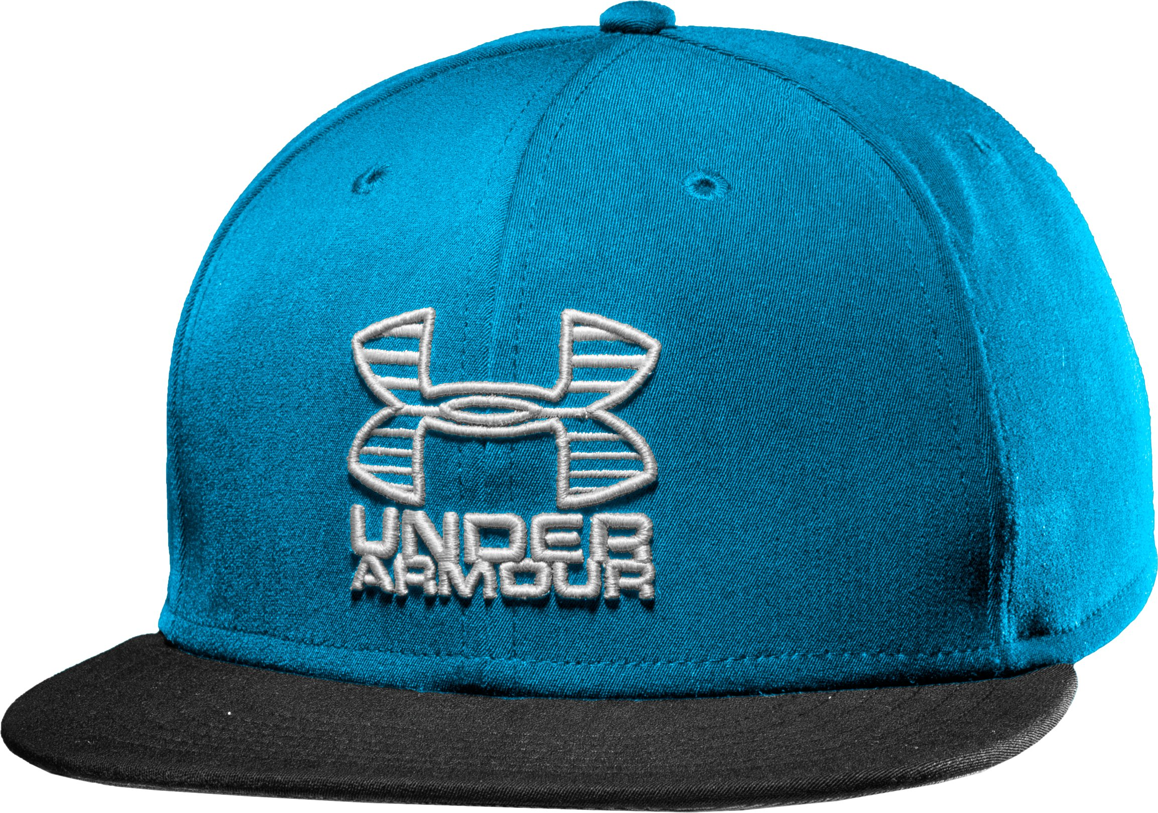 Men's UA Frontside Flat Brim Cap, PIRATE BLUE