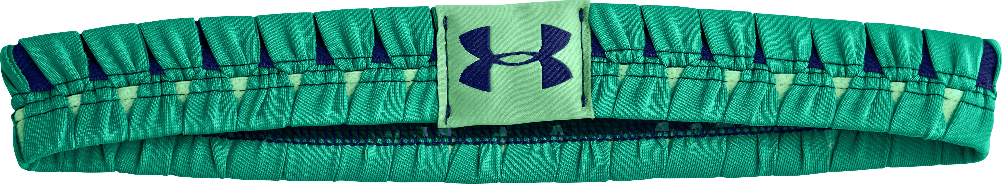 Women's UA Eliptic Headband, EMERALD LAKE