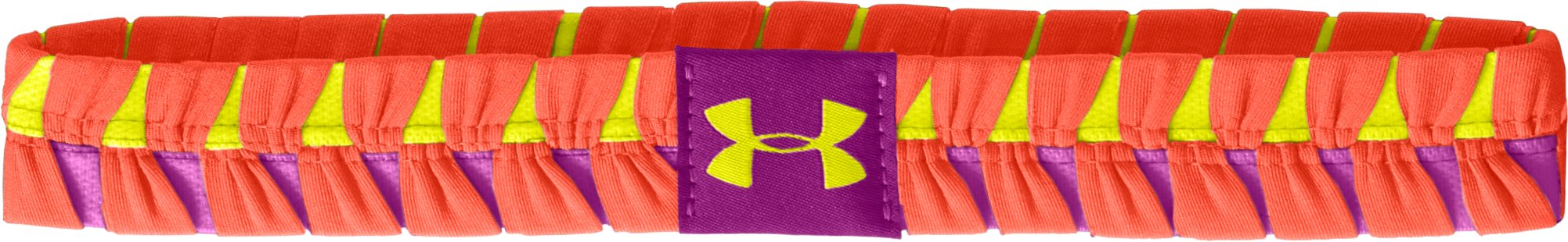 Women's UA Eliptic Headband, ELECTRIC TANGERINE, zoomed image