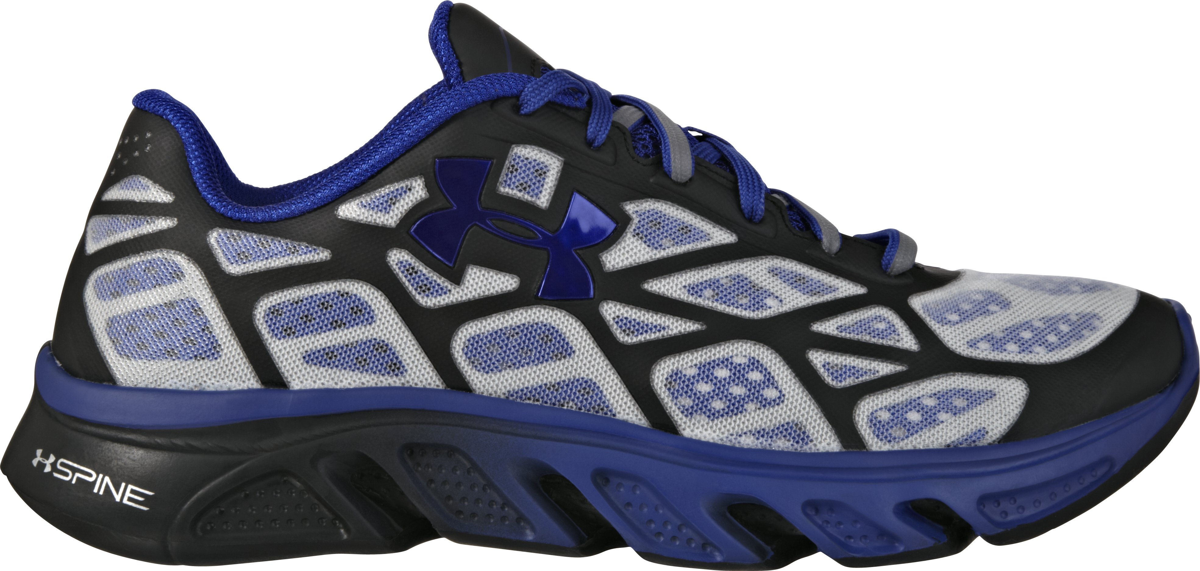 Boys' UA Spine™ Vice Fade Grade School Running Shoes, Black , zoomed image