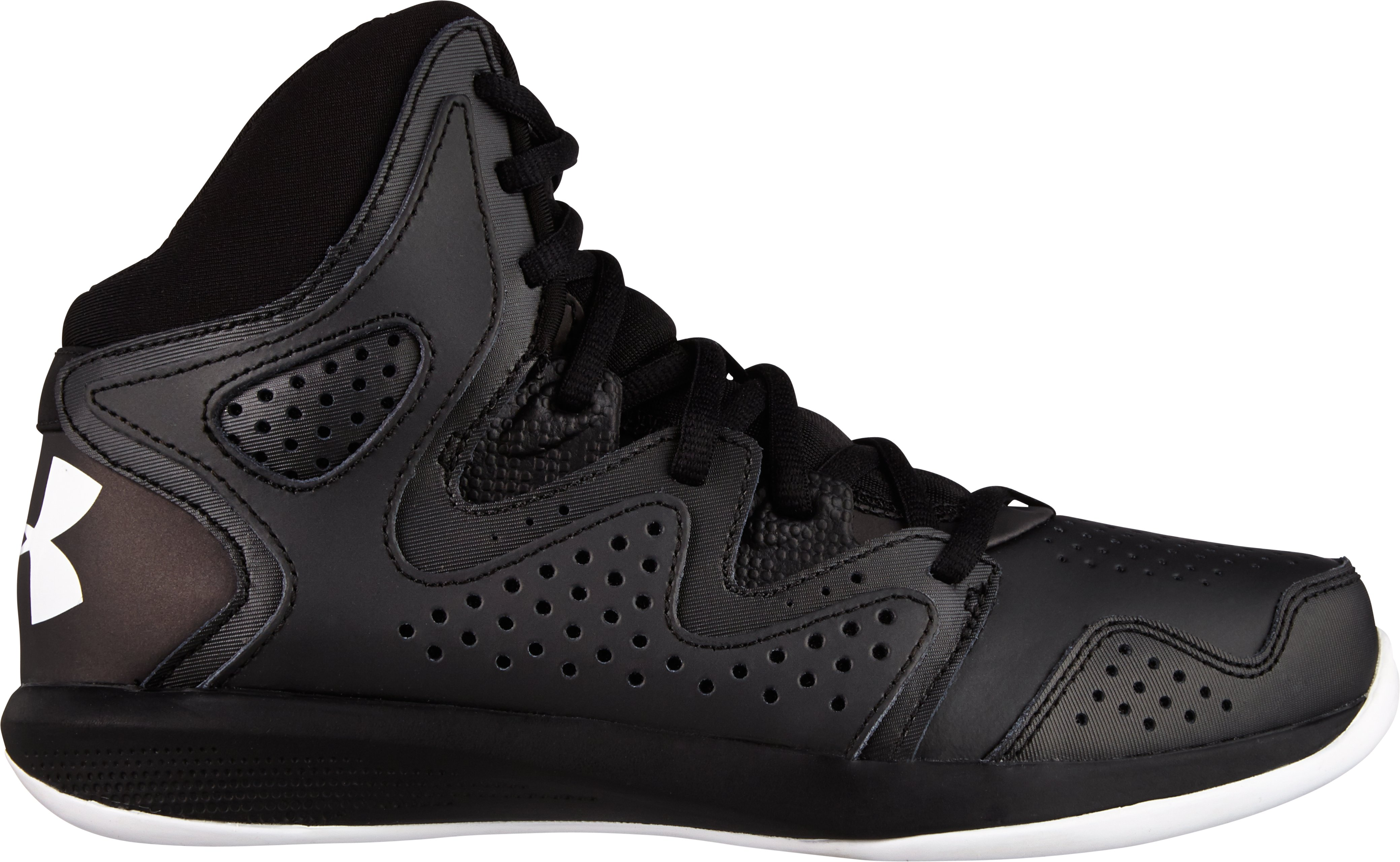 Boys' UA Torch 2 Basketball Shoes, Black , zoomed image