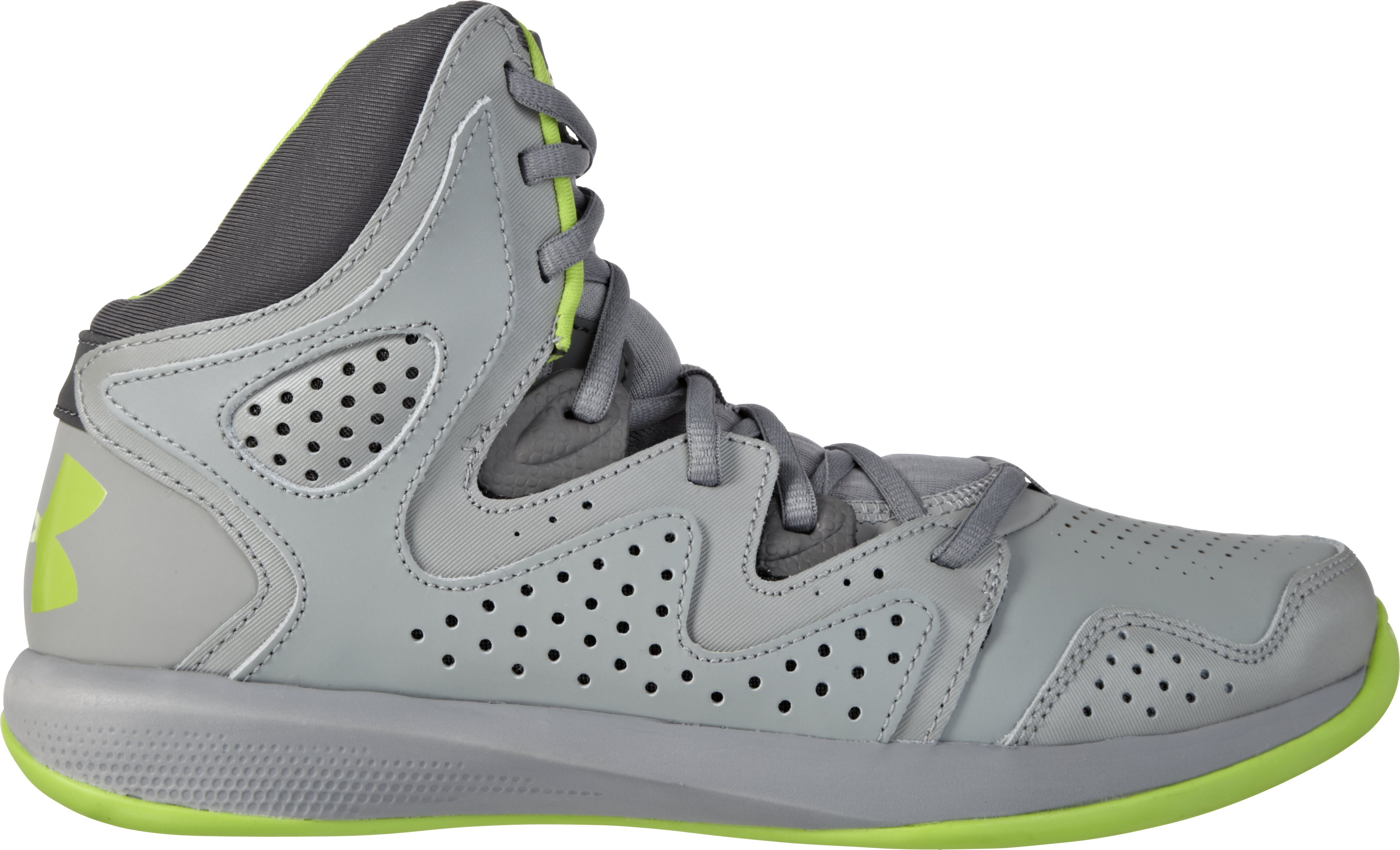 Boys' UA Torch 2 Basketball Shoes, Steel, zoomed image