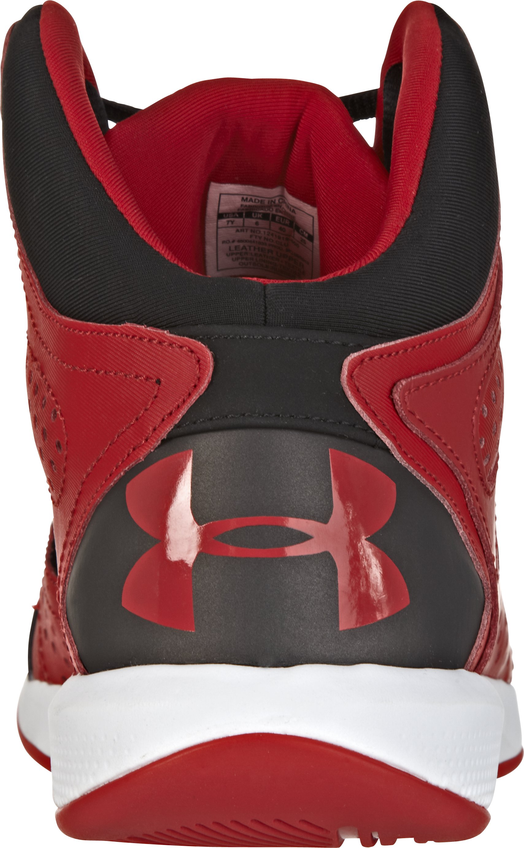 Boys' UA Torch 2 Basketball Shoes, Red