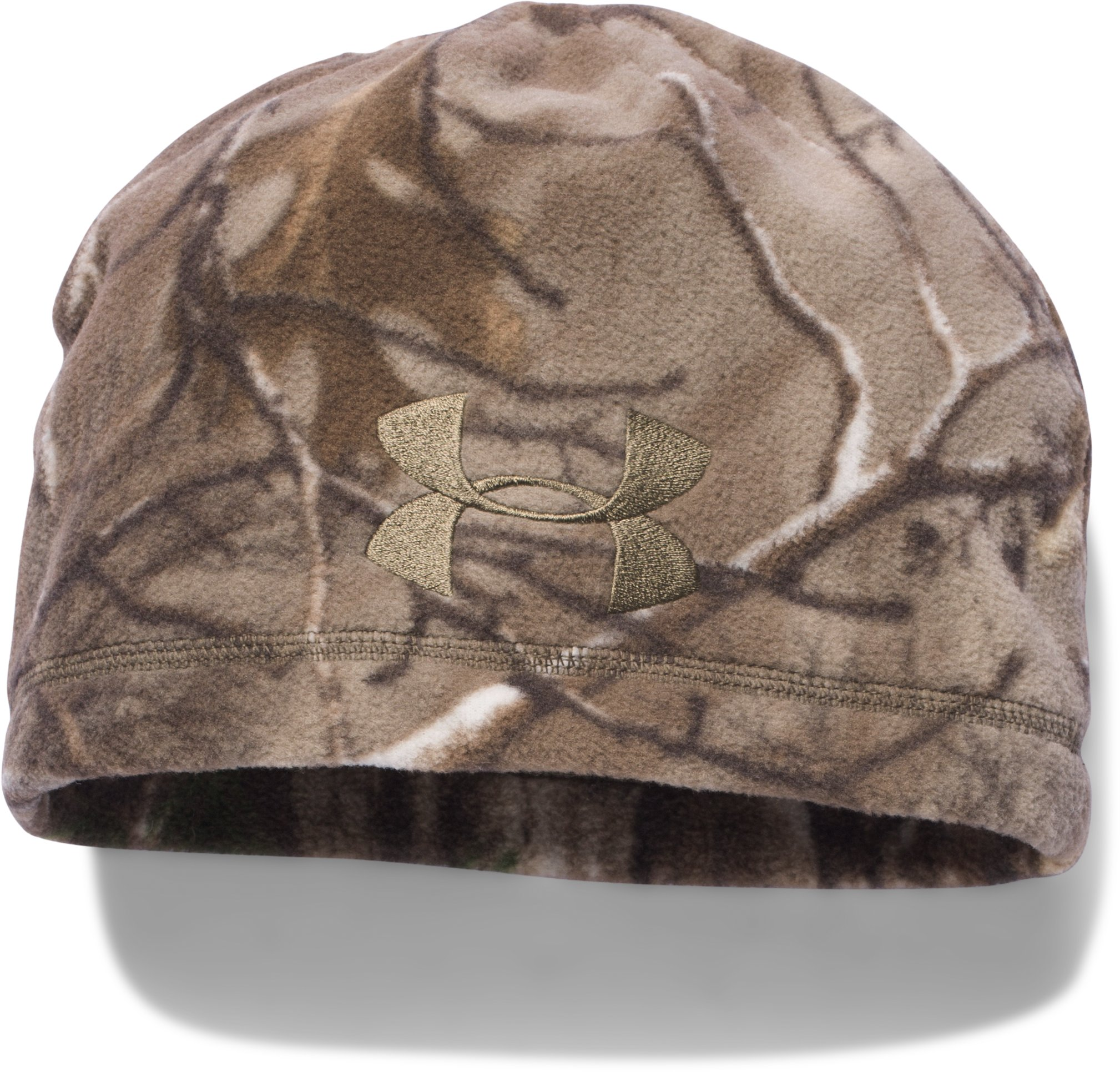 Men's UA Outdoor Camo Fleece Beanie, REALTREE AP-XTRA,