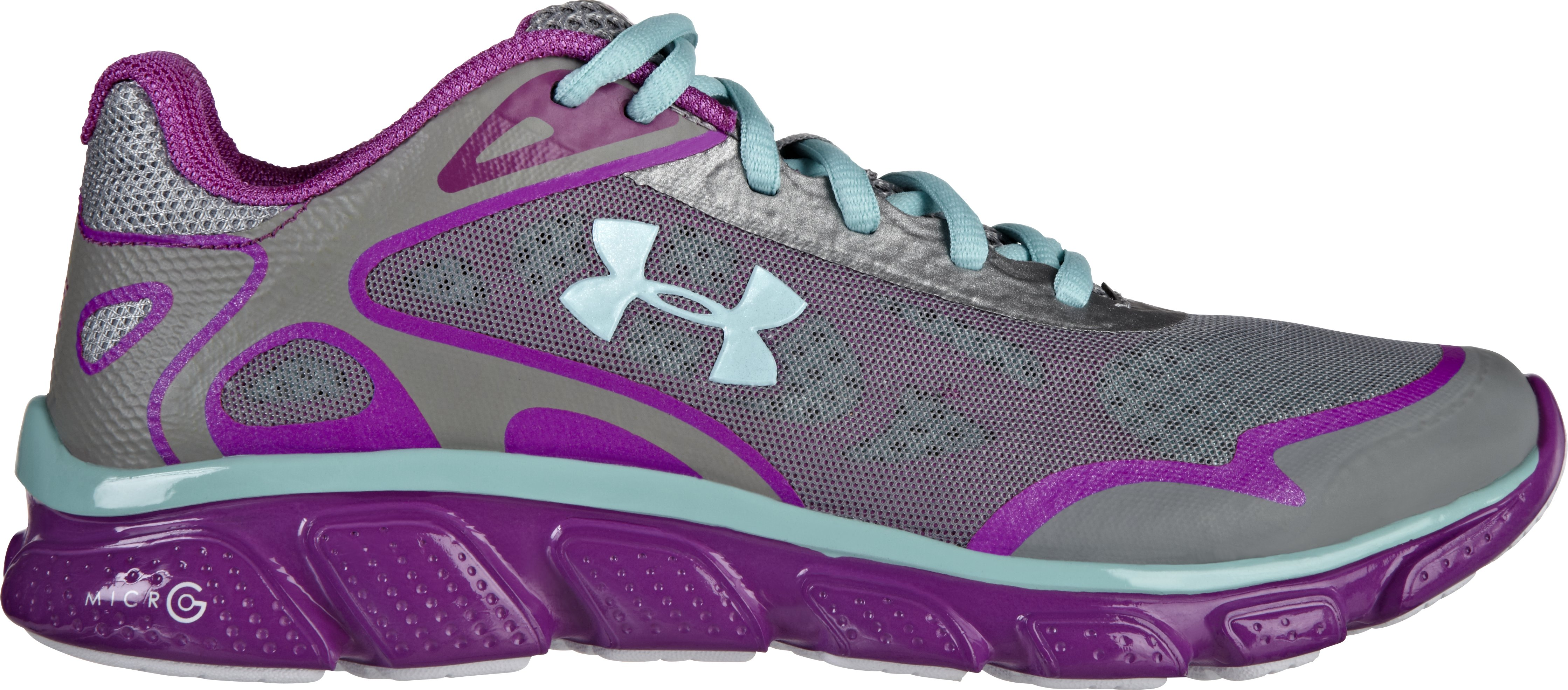 Women's UA Micro G® Pulse Running Shoe, Steel, zoomed image