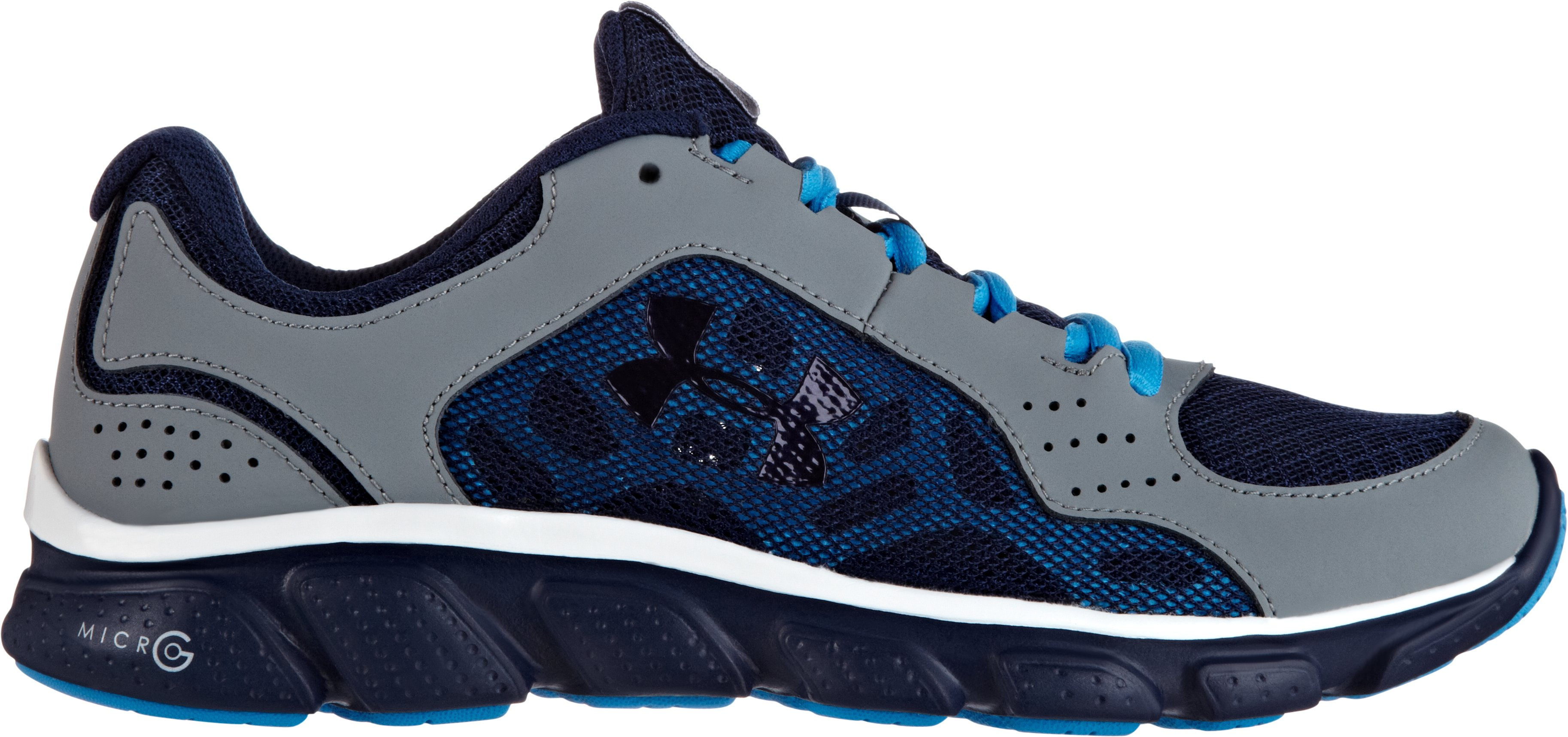 Boys' Grade School UA Micro G® Assert IV Running Shoes, GRAVEL