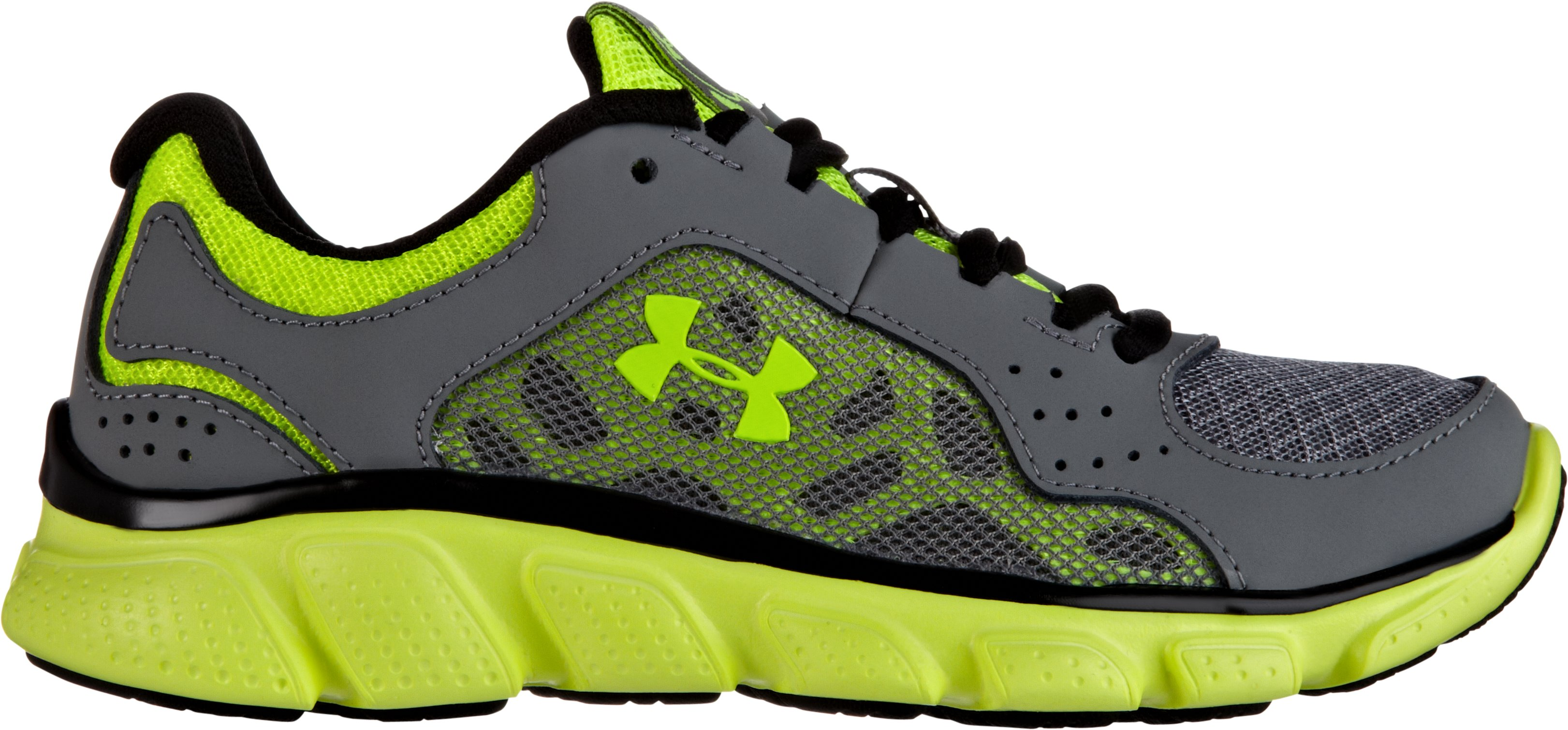 Boys' Pre-School UA Assert IV Shoes, Graphite, zoomed image