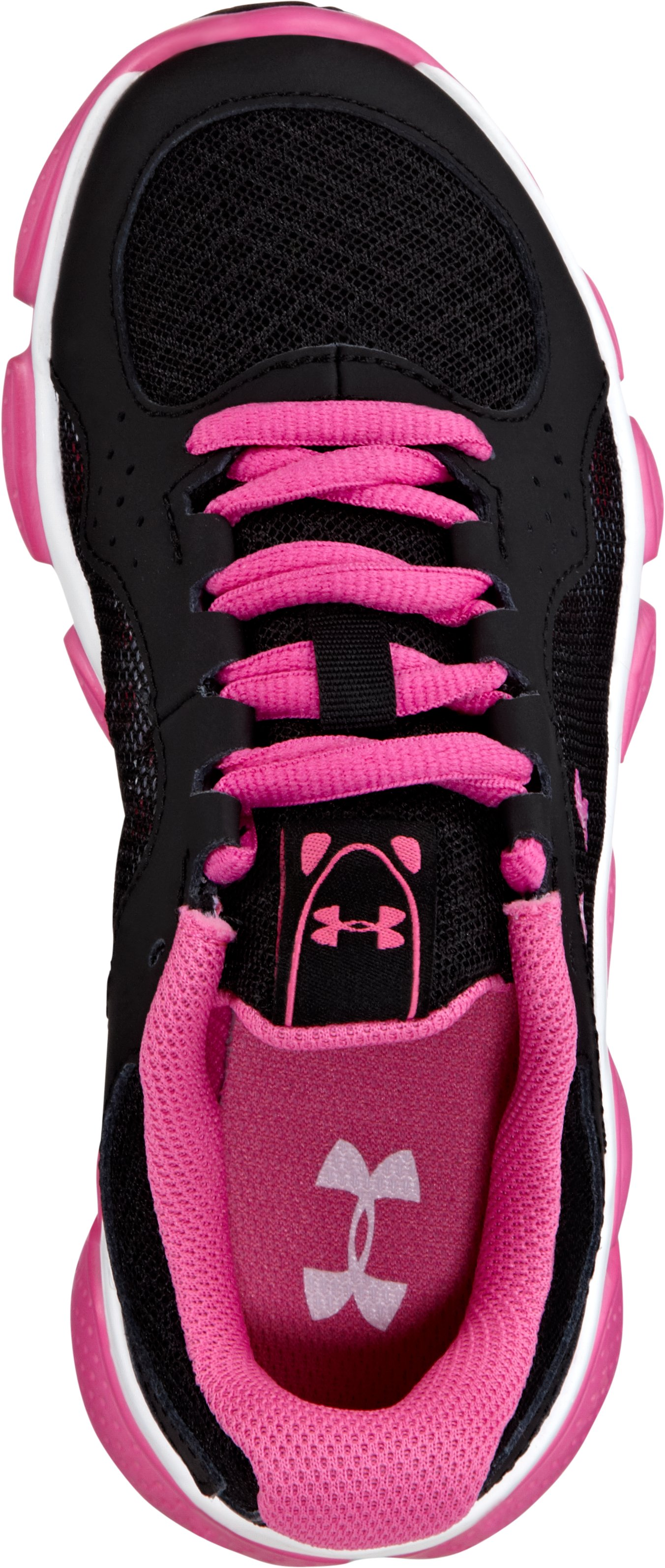 Girls' Pre-School UA Assert IV Running Shoes, Black , undefined