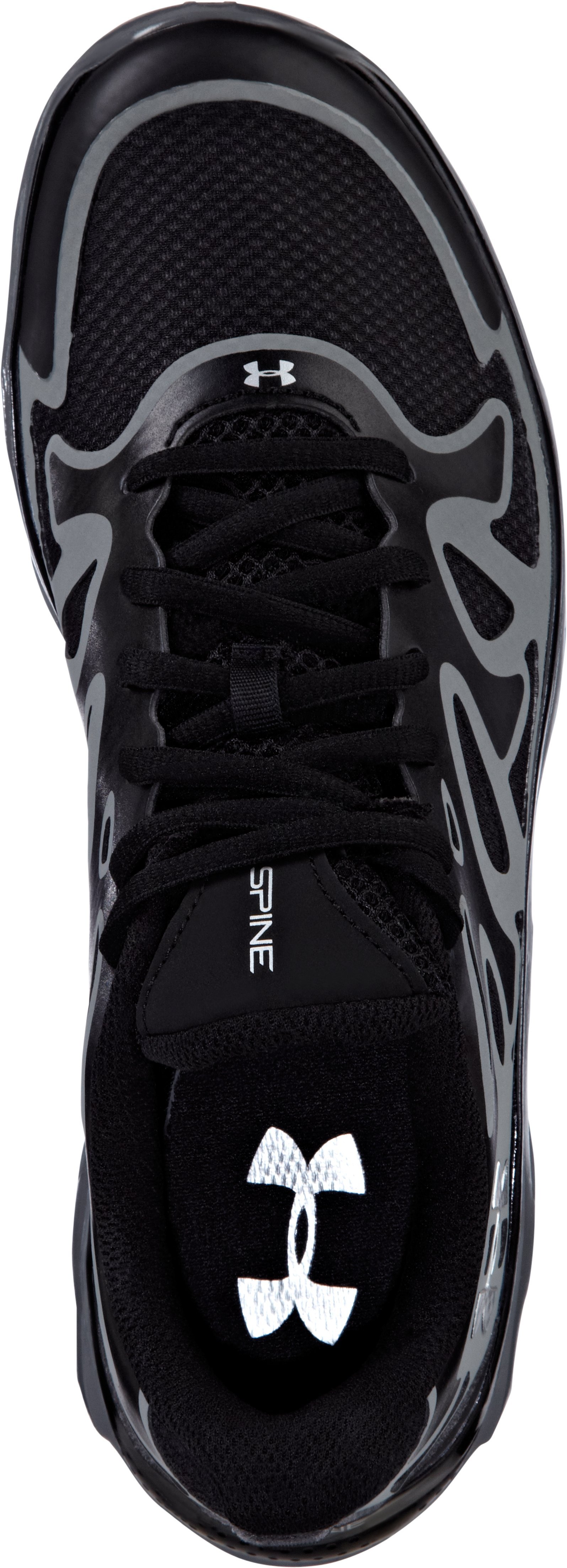 Boys' UA Spine™ Evo Grade School Running Shoes, Black , undefined