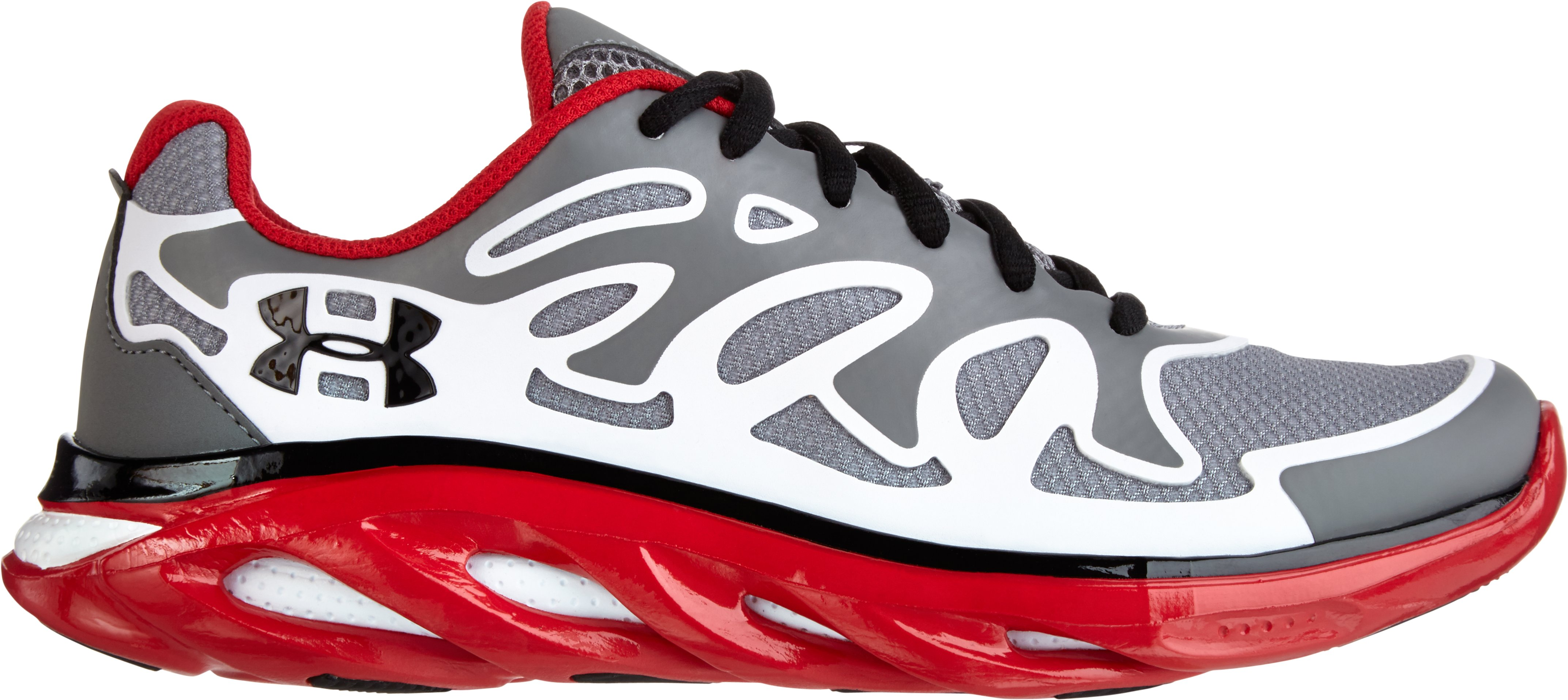 Boys' UA Spine™ Evo Grade School Running Shoes, Graphite, zoomed image