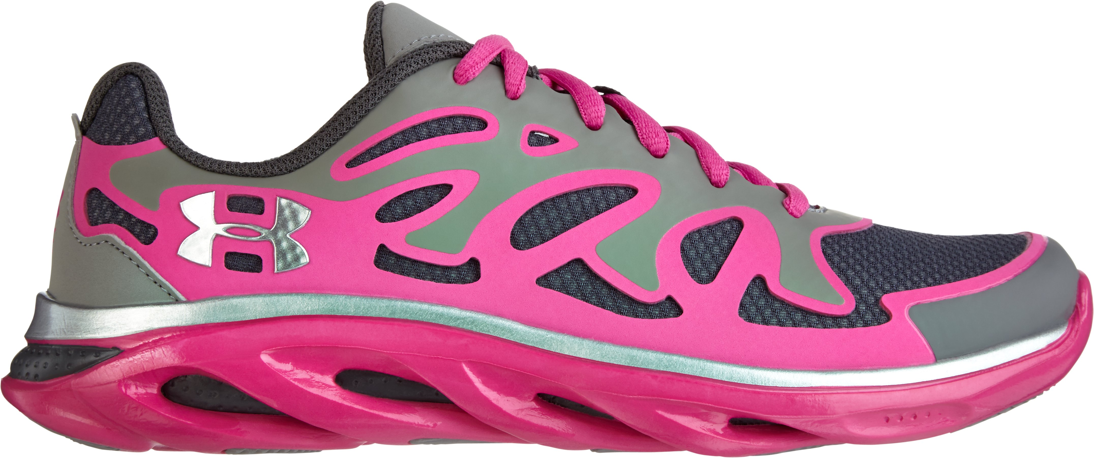 Girls' Grade School Micro G® Spine Evo Running Shoes, Steel, zoomed image