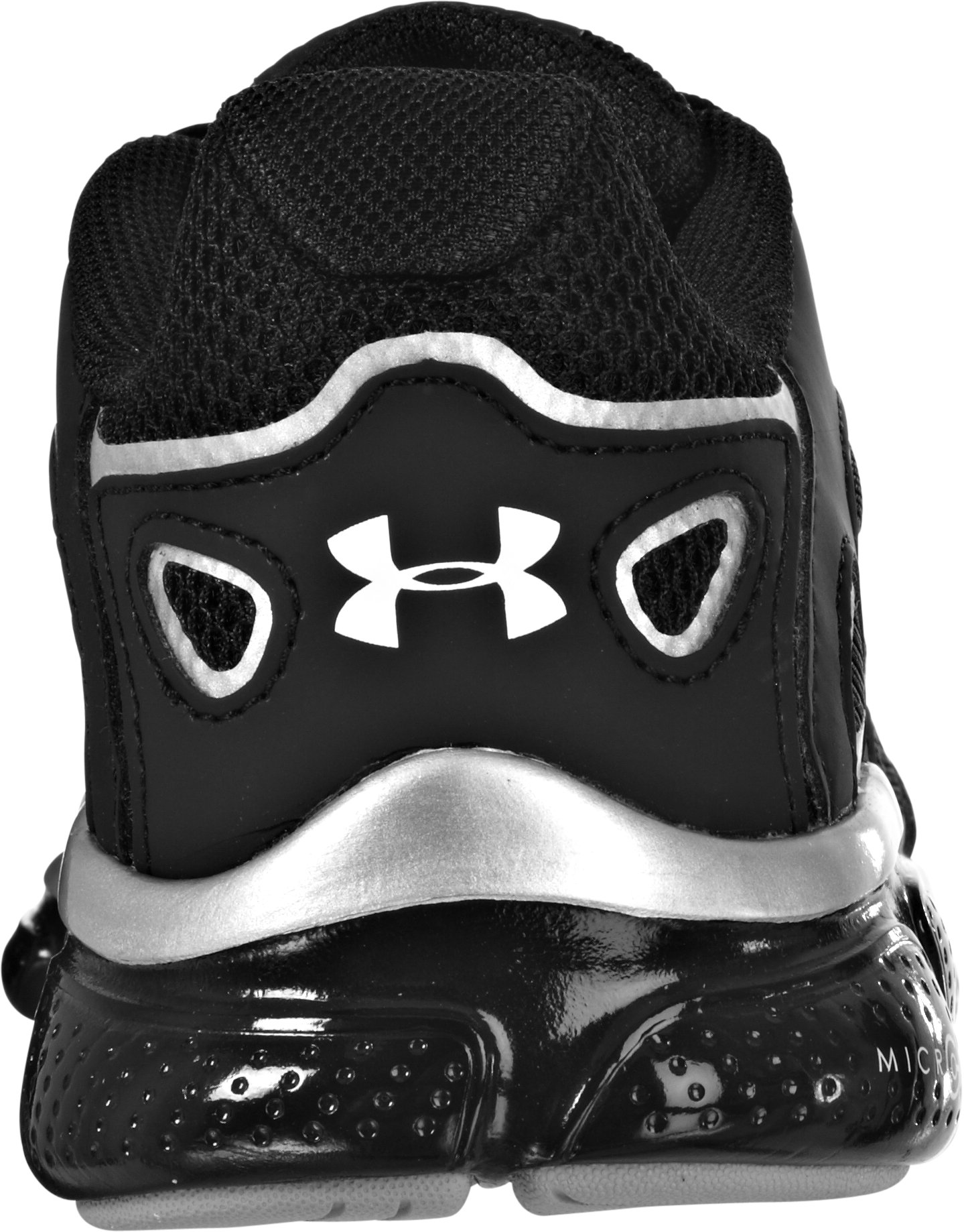Boys' UA Micro G® Pulse Grade School Running Shoes, Black