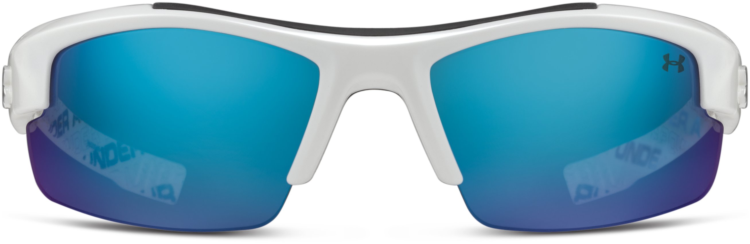 Kids' UA Nitro L Sunglasses, Shiny White With Print