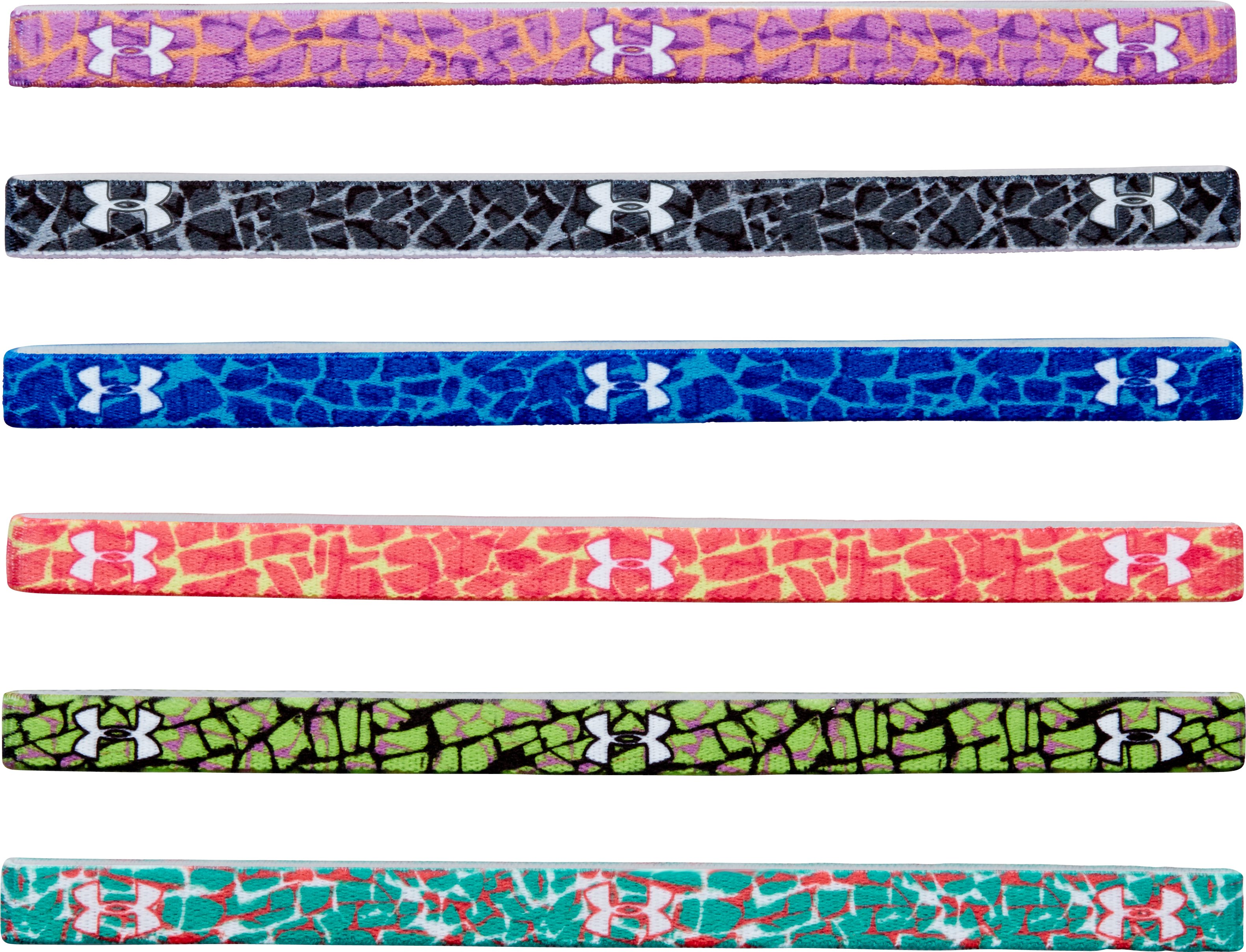 Girls' UA Graphic Mini Headbands, Afterglow, zoomed image