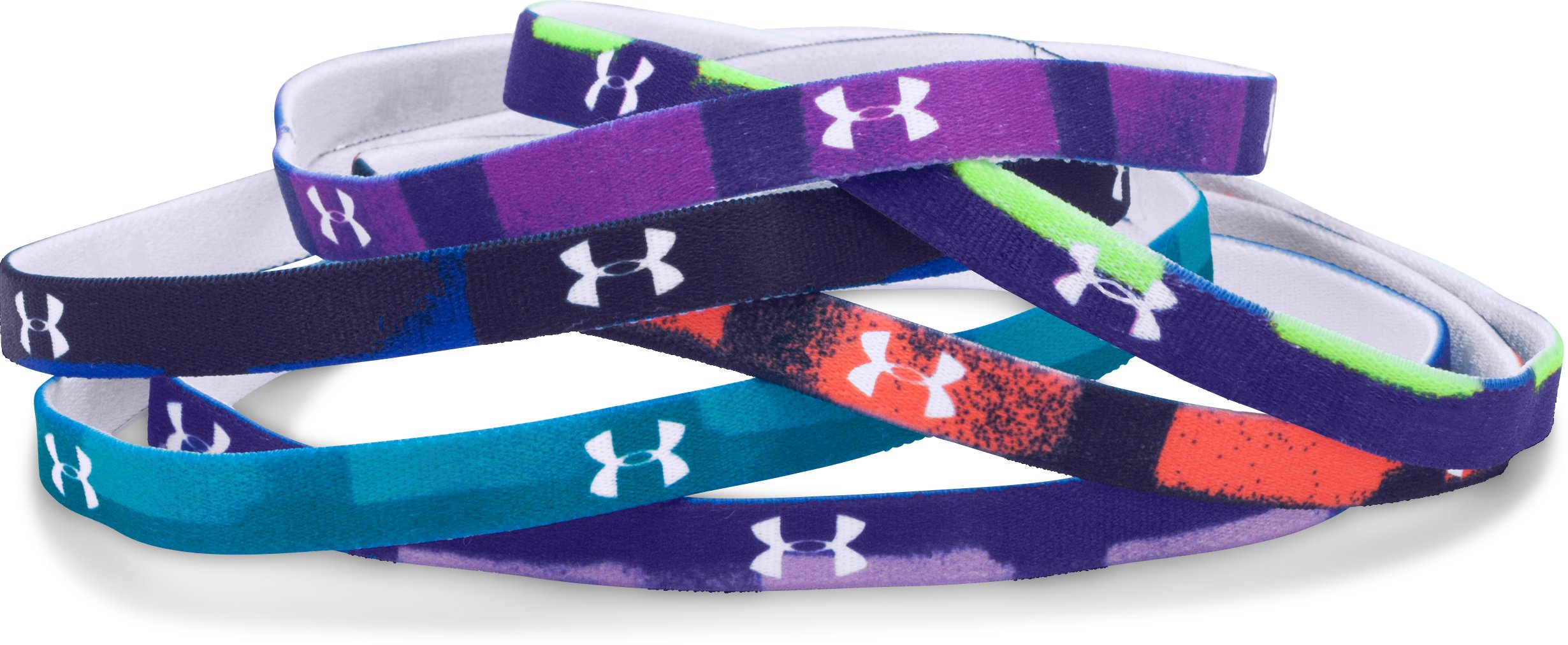 Girls' UA Graphic Mini Headbands, AFTER BURN, zoomed image