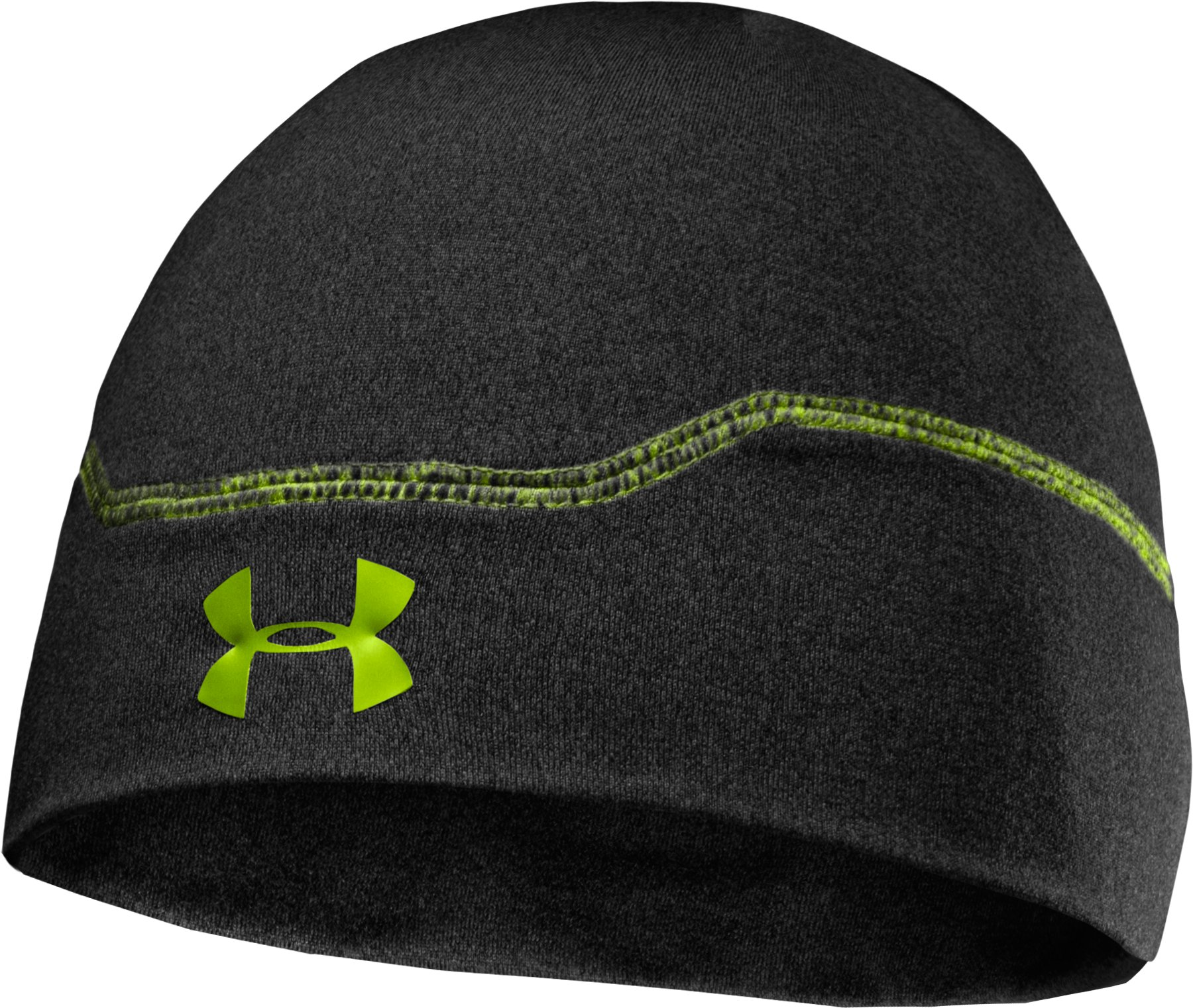 Men's ColdGear® Infrared Stealth Beanie, Asphalt Heather, zoomed image