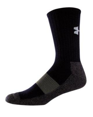 Youth UA Performance Crew Socks, Black