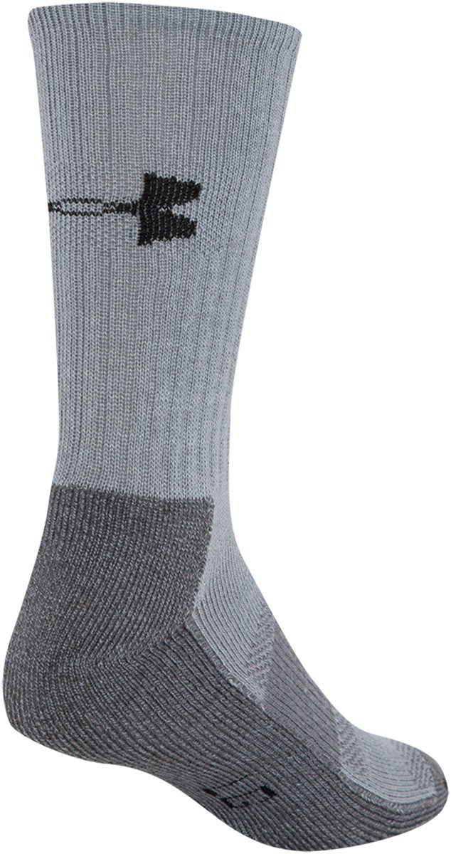 Men's UA Performance Crew Socks, Steel