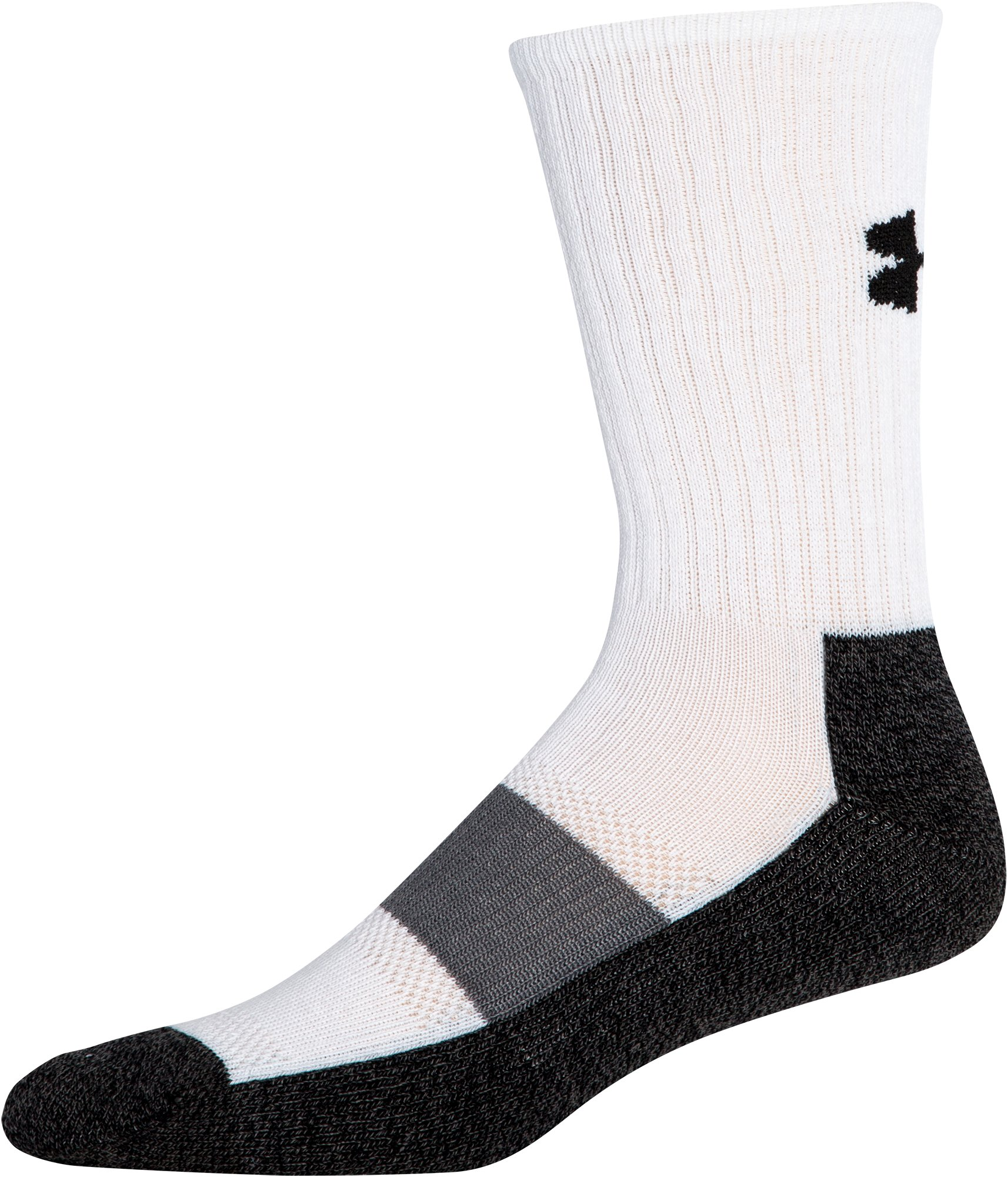 Men's UA Performance Crew Socks, White