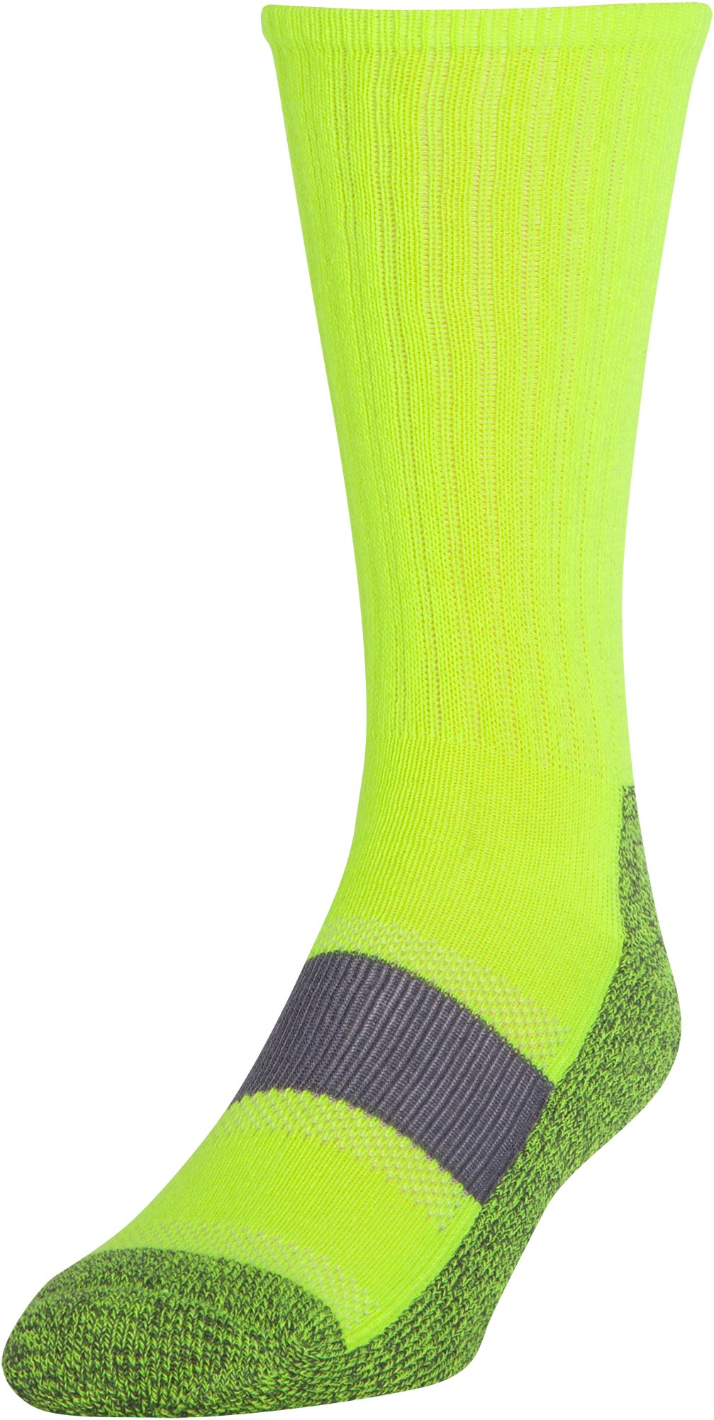 Men's UA Performance Crew Socks, High-Vis Yellow