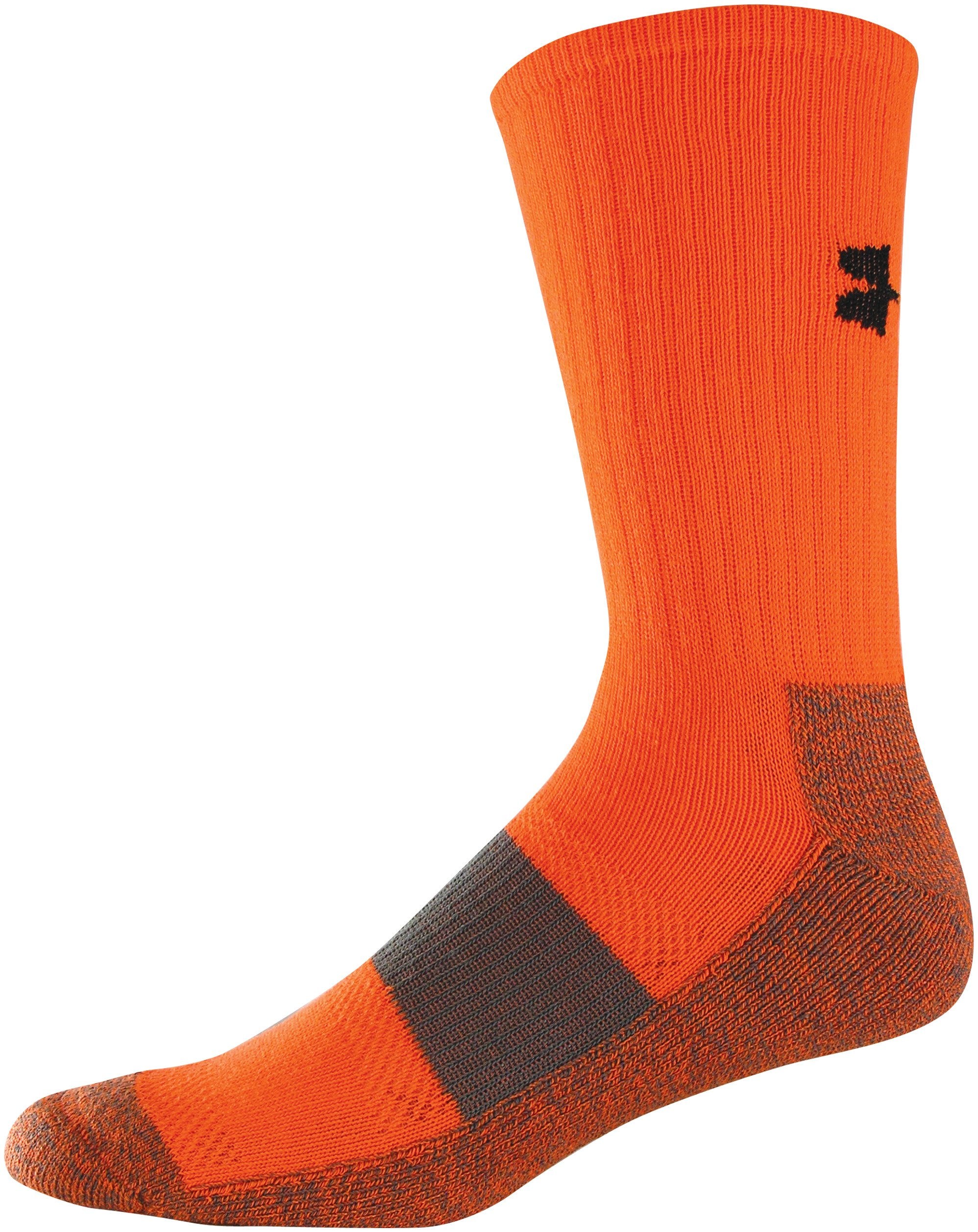 Men's UA Performance Crew Socks, Blaze Orange