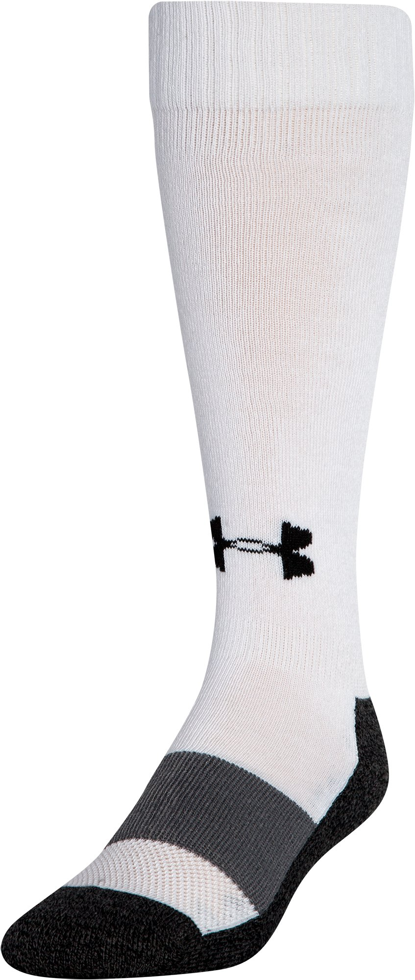 Men's UA Baseball OTC Socks, White,