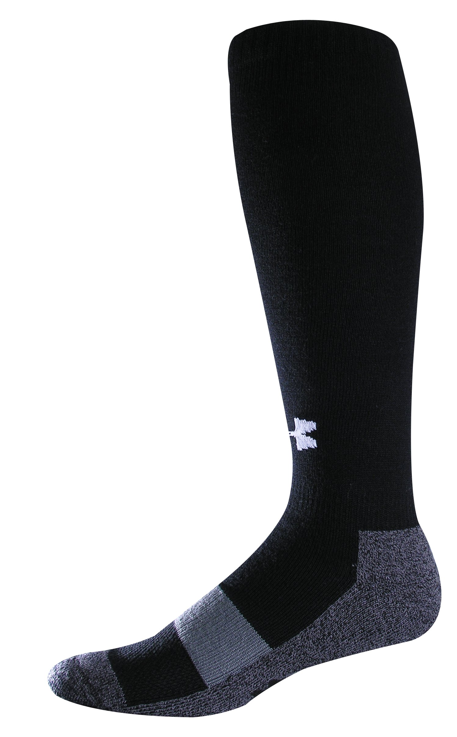 Men's Football Charged Cotton® OTC Socks, Black