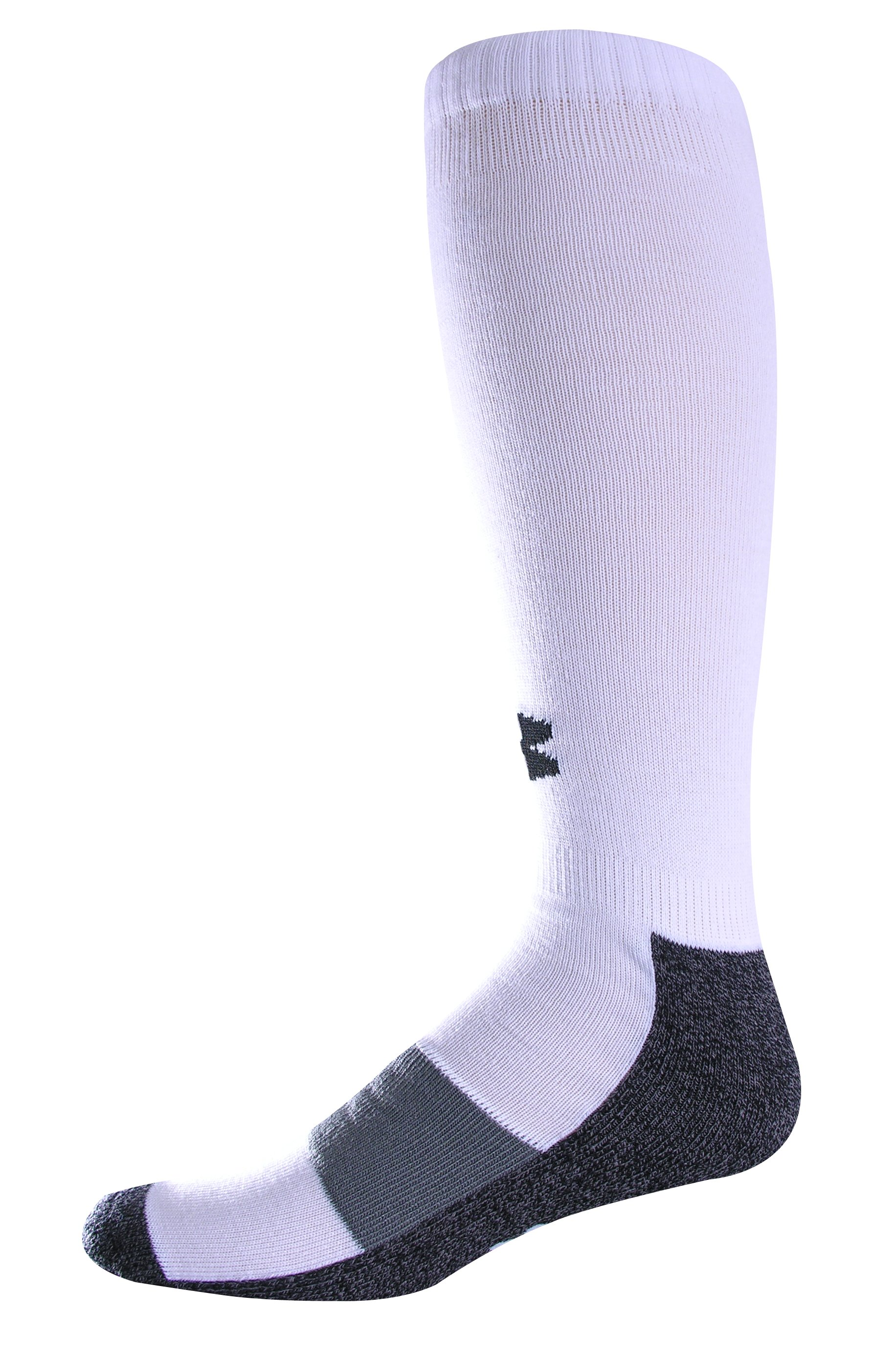 Men's Football Charged Cotton® OTC Socks, White, zoomed image