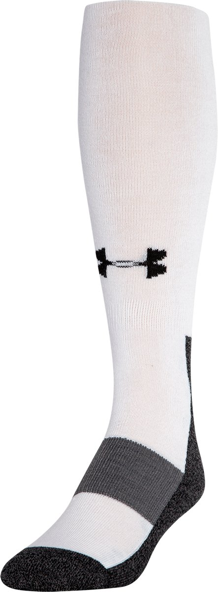 Men's Football Charged Cotton® OTC Socks, White