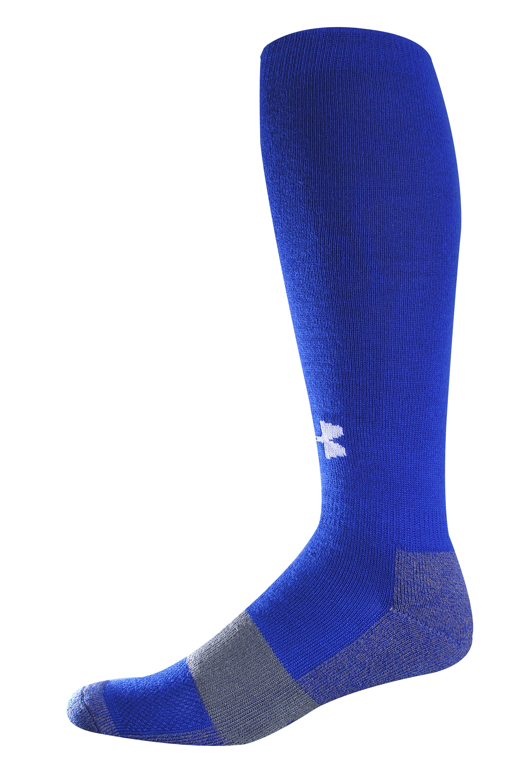 Men's Football Charged Cotton® OTC Socks, Royal, zoomed image