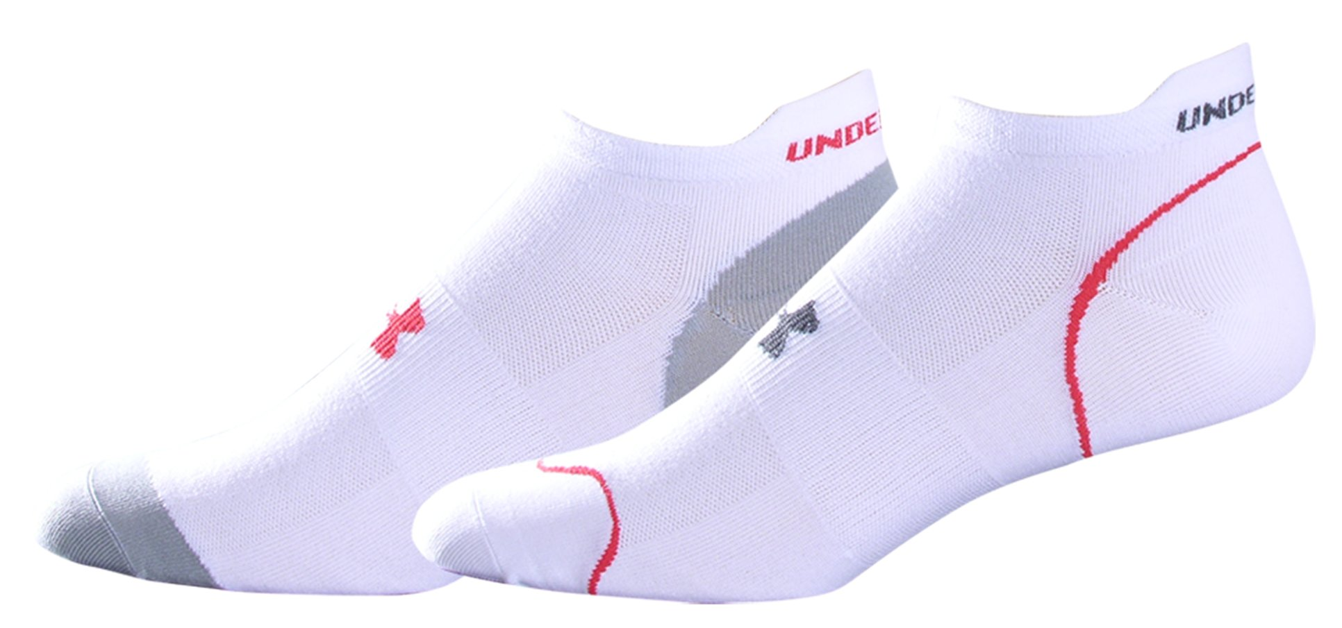 Men's UA Ultralite Run Socks 2-Pack, White, undefined