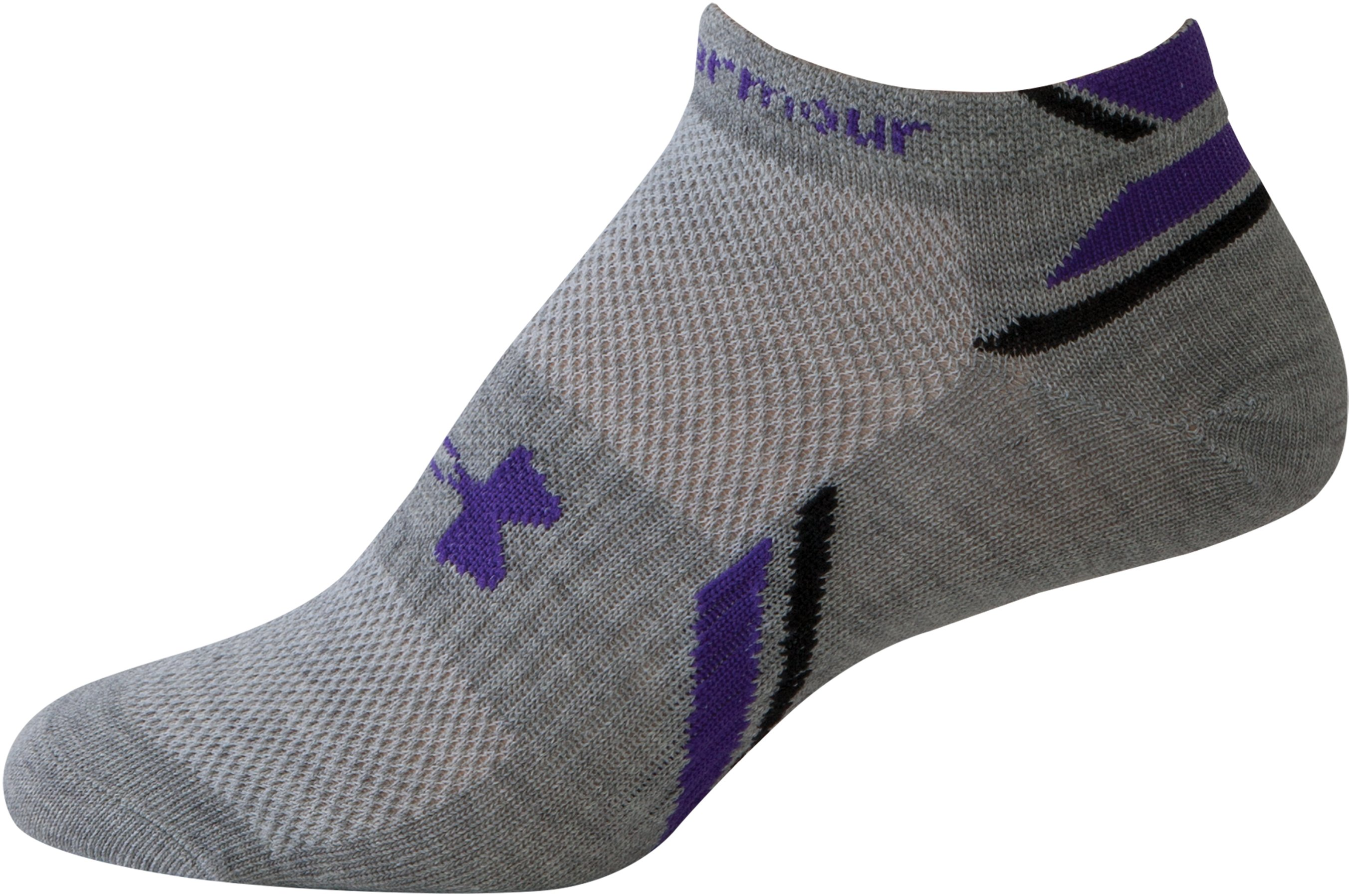 Women's UA Phantom No-Show Socks, White, zoomed image