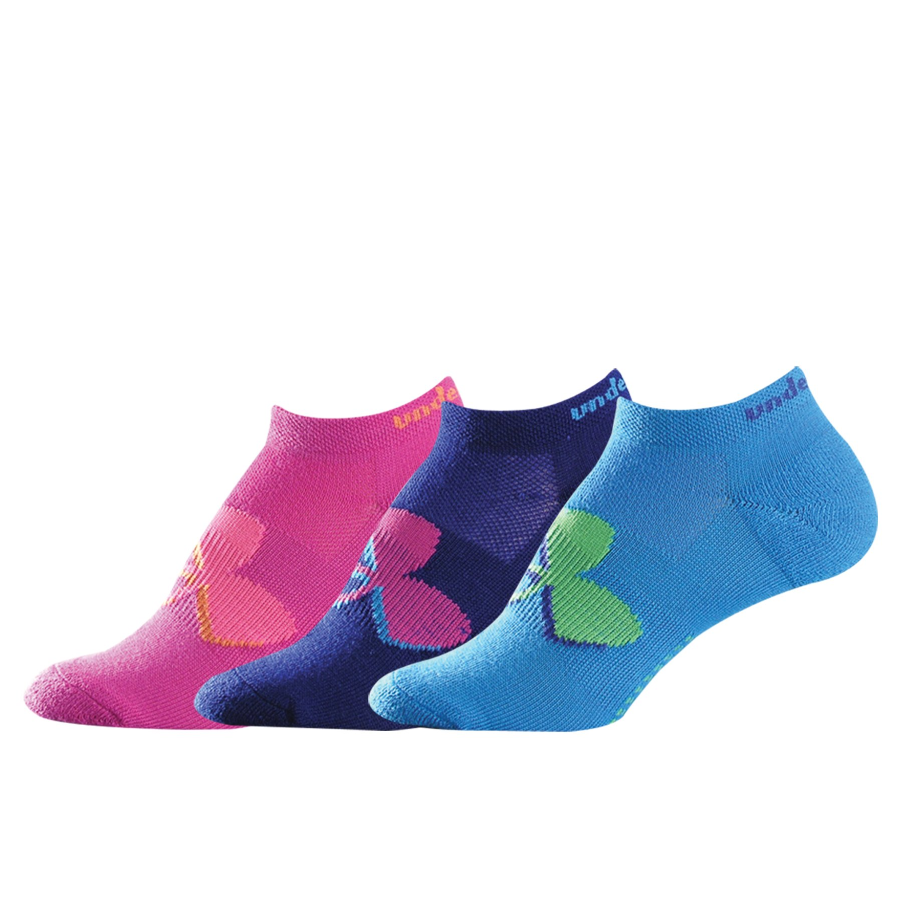 Girls' UA Solo III No Show Socks, Assorted
