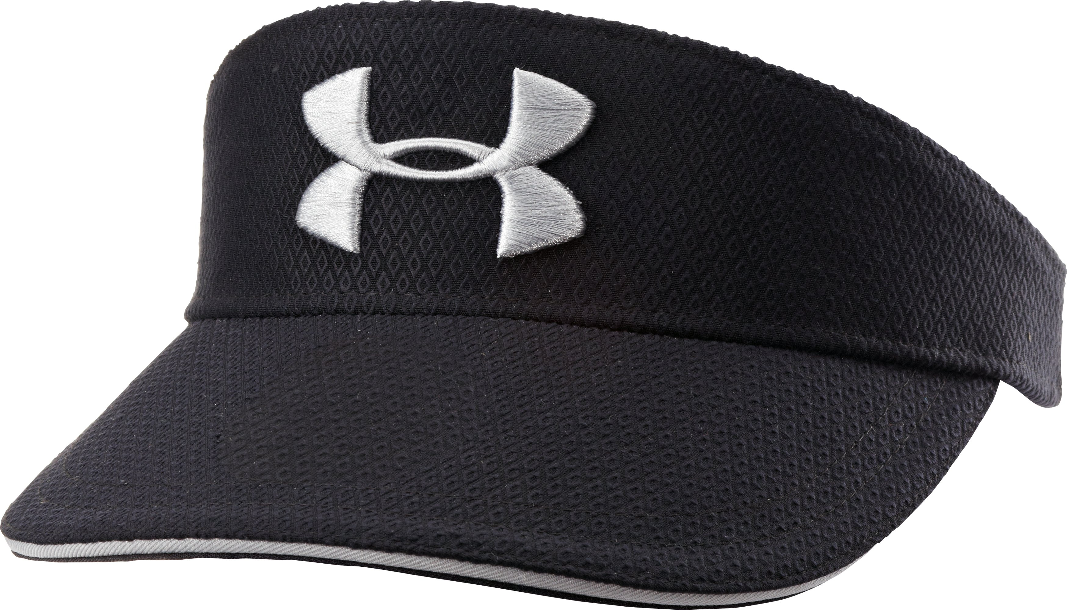Men's UA Golf Tour Visor, Black , zoomed image
