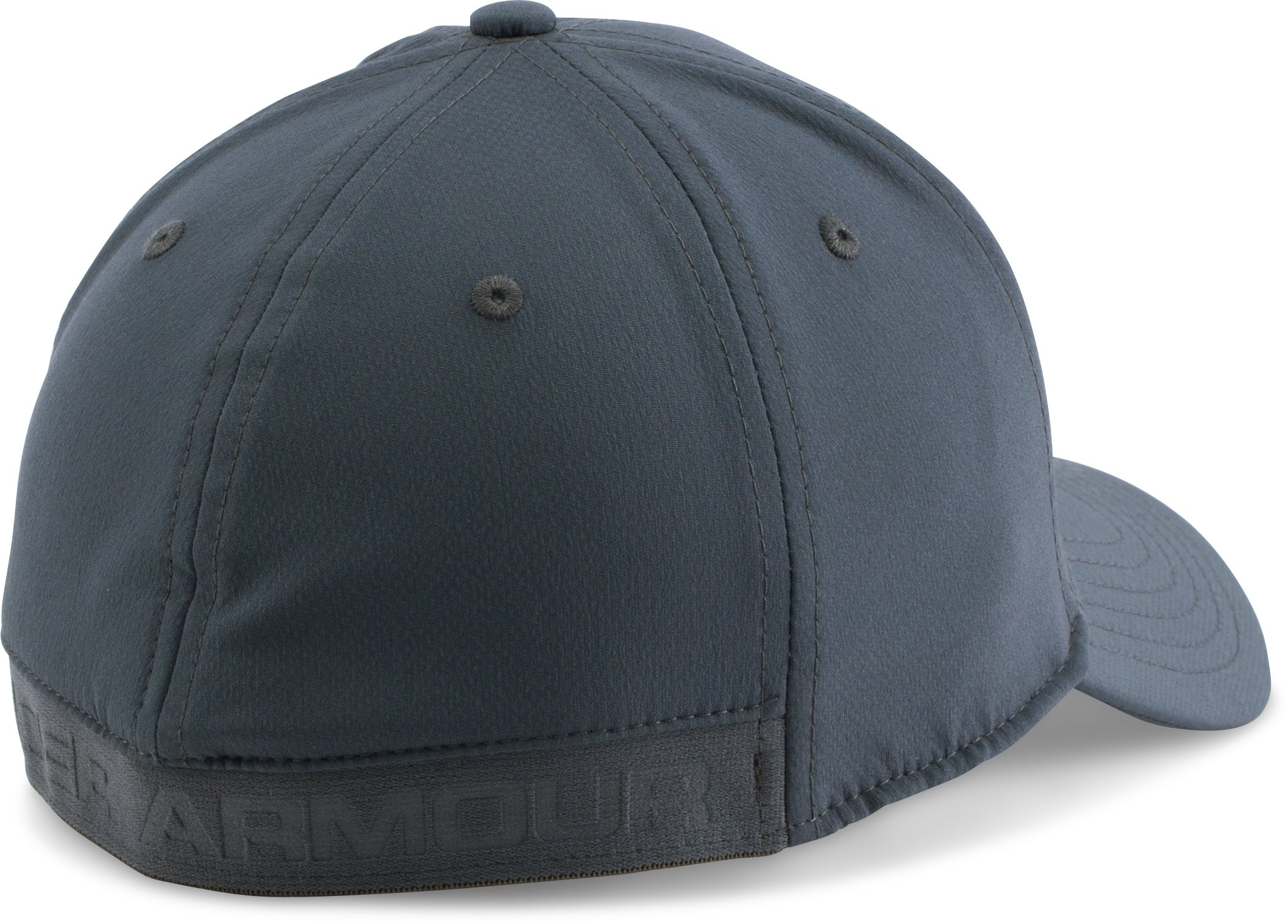 Men's UA Headline Stretch Fit Cap, STEALTH GRAY
